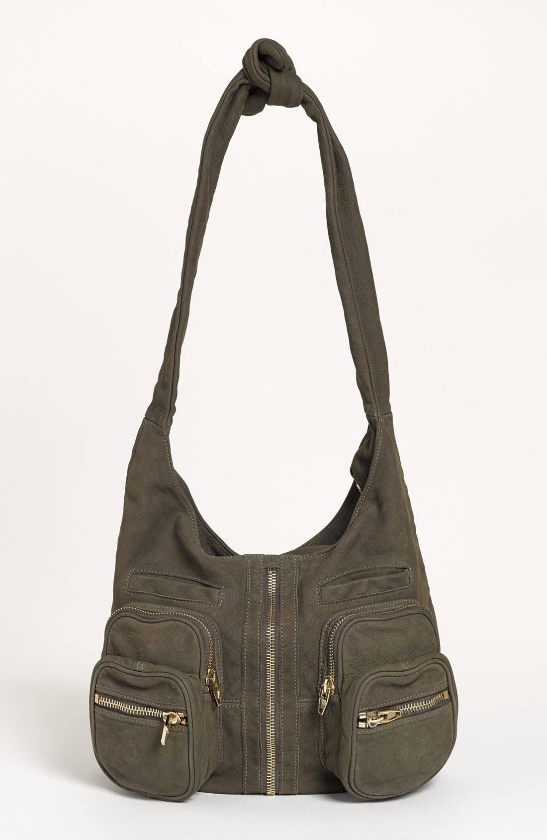 Alternate Image 1 Selected - Alexander Wang 'Donna - Pale Gold' Nubuck Leather Hobo