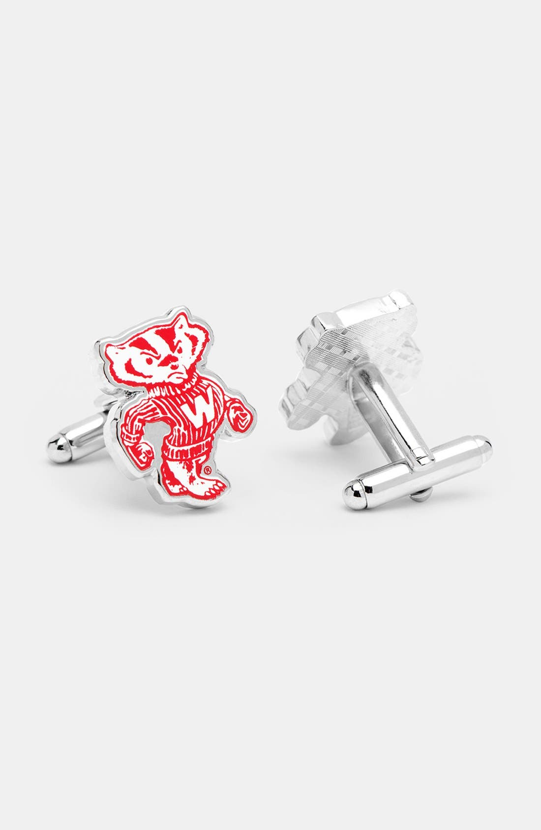 Alternate Image 1 Selected - Cufflinks, Inc. 'University of Wisconsin Badgers' Cuff Links