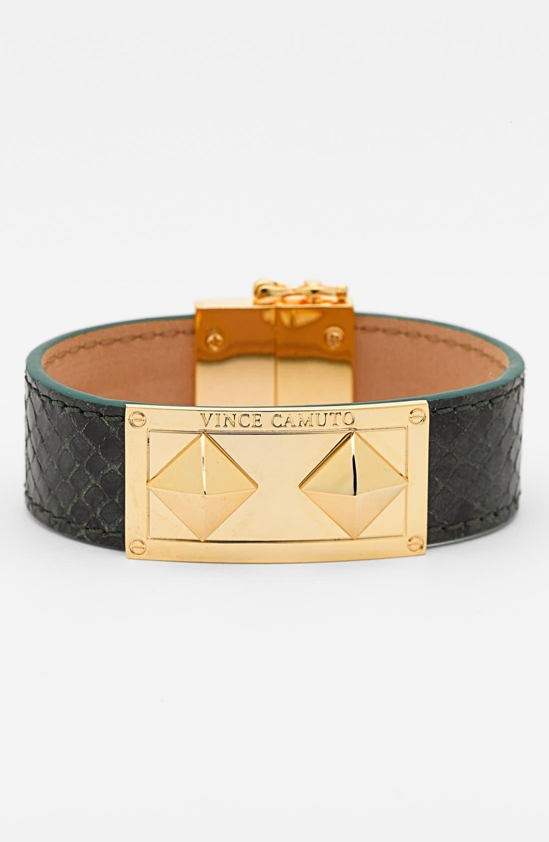 Main Image - Vince Camuto Pyramid Detail Leather Bracelet