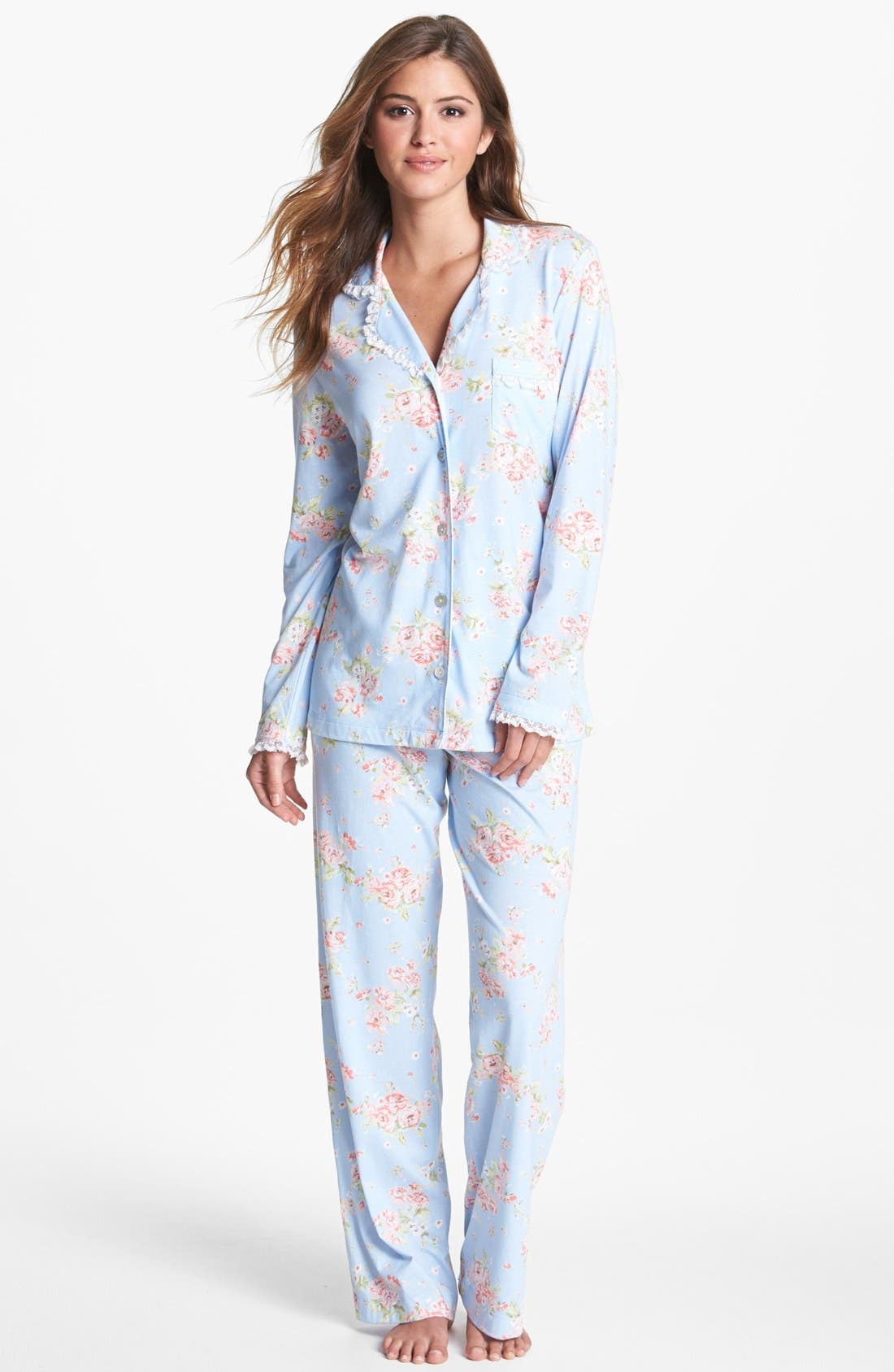 Alternate Image 1 Selected - Carole Hochman Designs 'Enchanted Gardens' Pajamas
