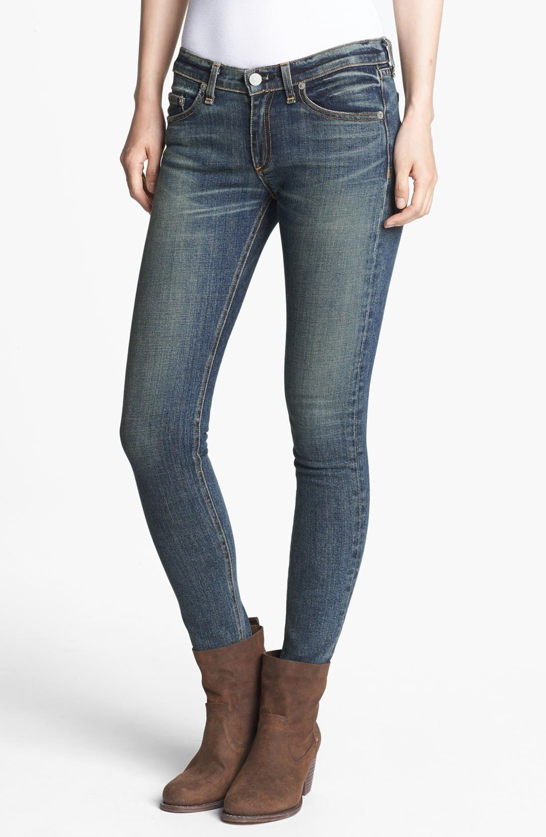 Alternate Image 1 Selected - rag & bone/JEAN Skinny Stretch Jeans