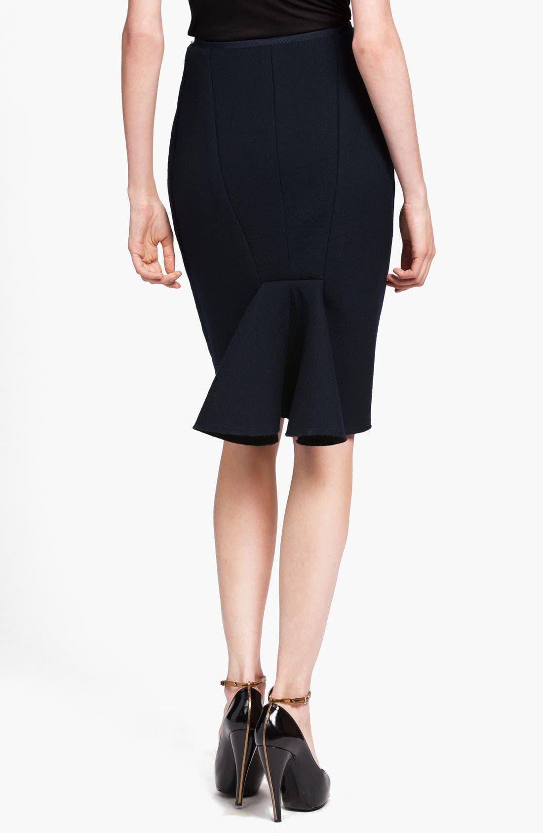 Alternate Image 2  - Lanvin Bias Cut Wool Fishtail Skirt