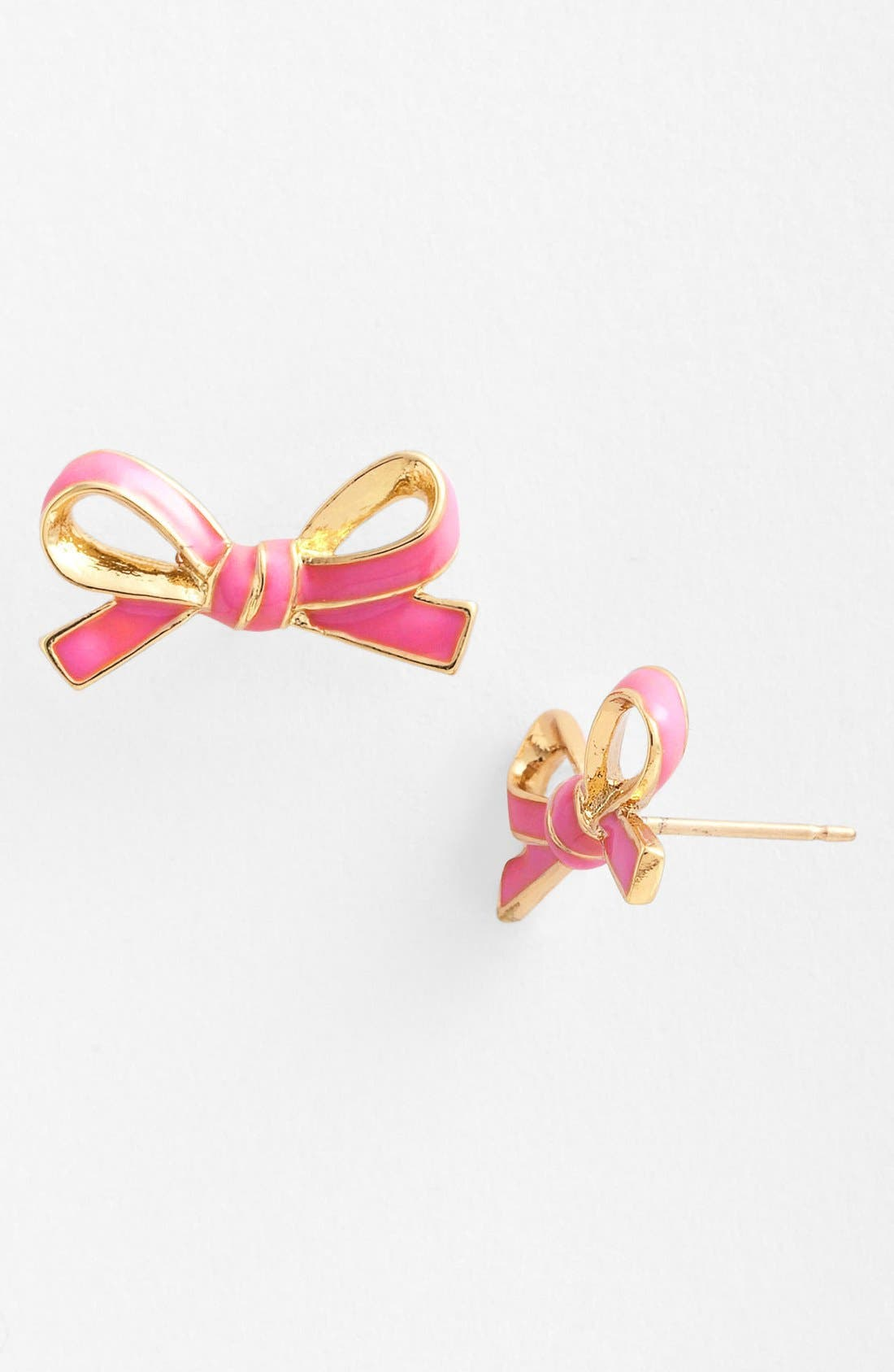 Main Image - kate spade new york 'skinny mini' bow stud earrings