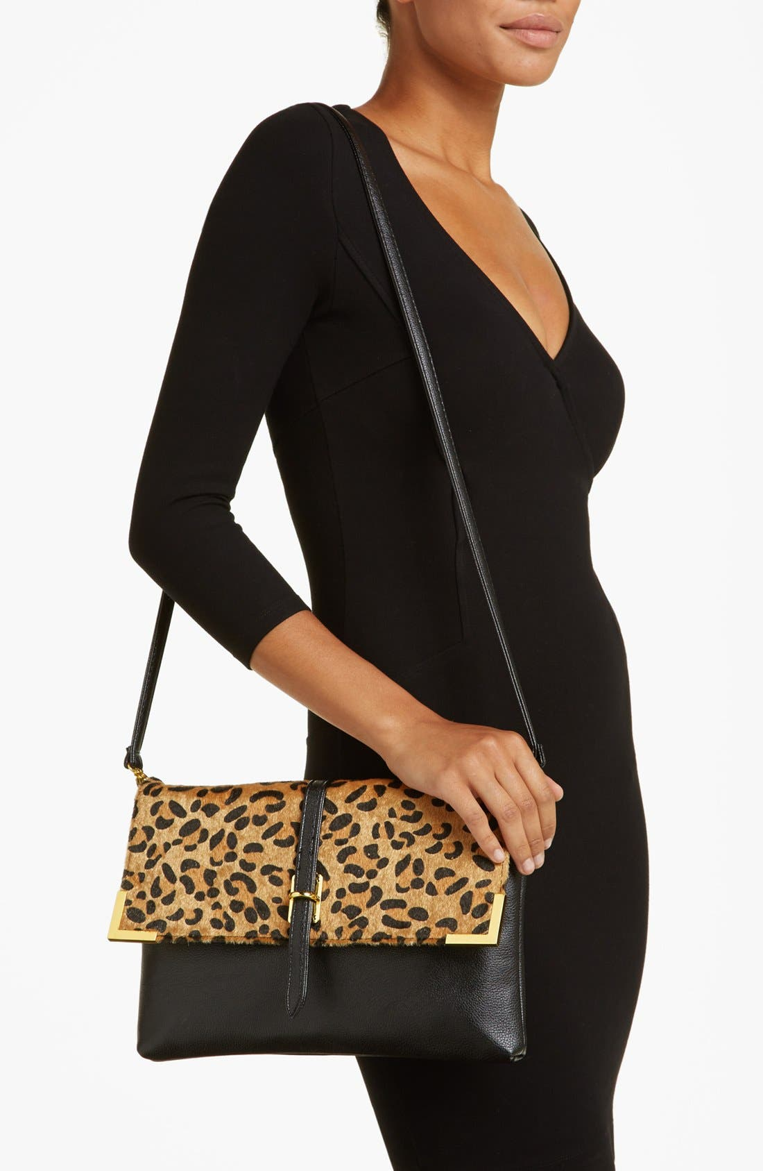 Alternate Image 2  - Natasha Couture Leopard Print Shoulder Bag