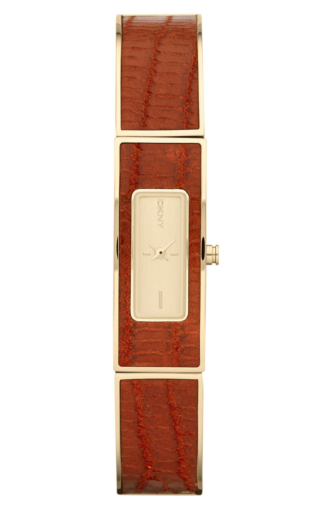 Main Image - DKNY Leather Bangle Watch, 13mm x 33mm