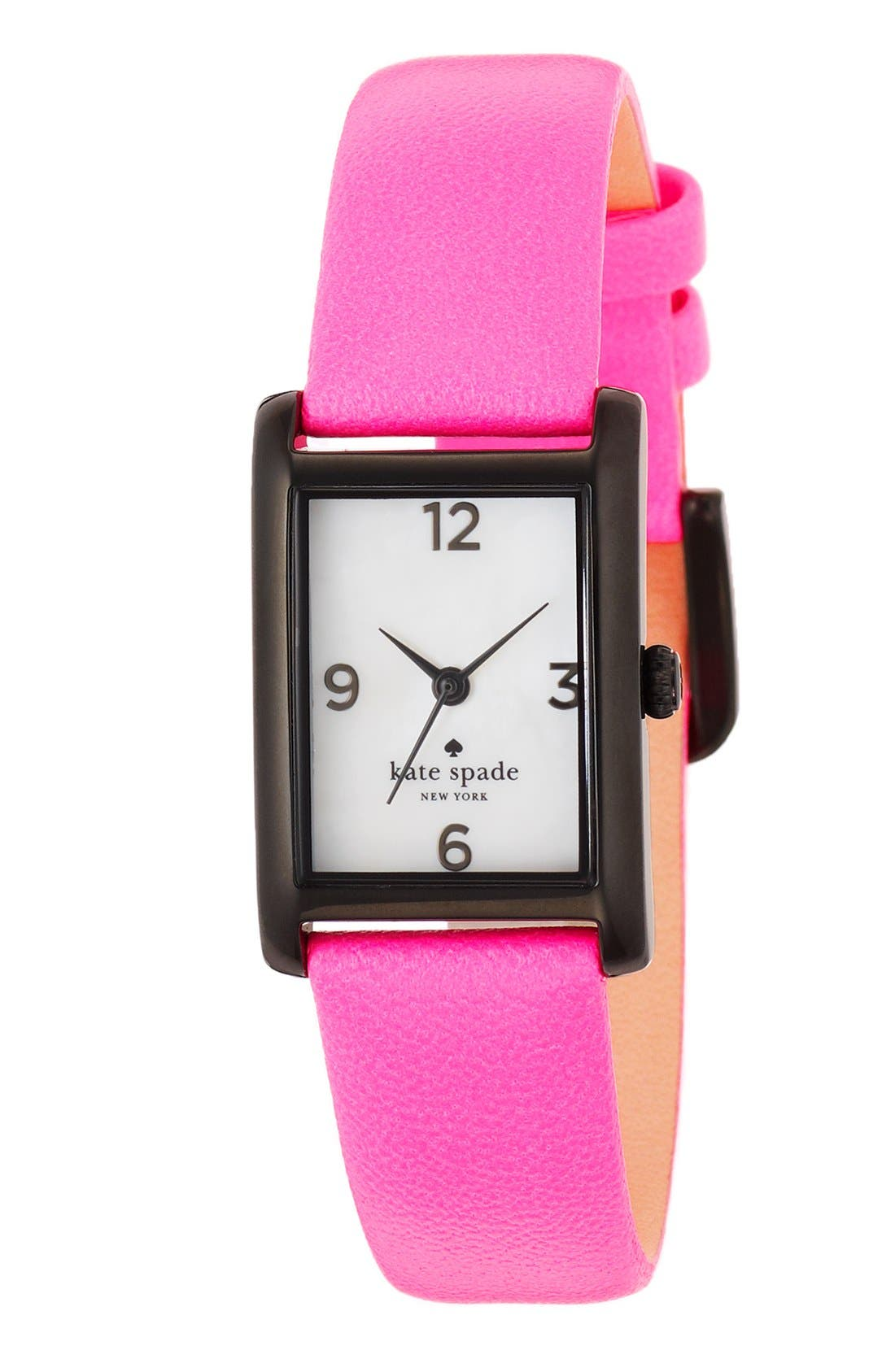 Alternate Image 2  - kate spade new york 'cooper' leather strap watch, 21mm x 32mm