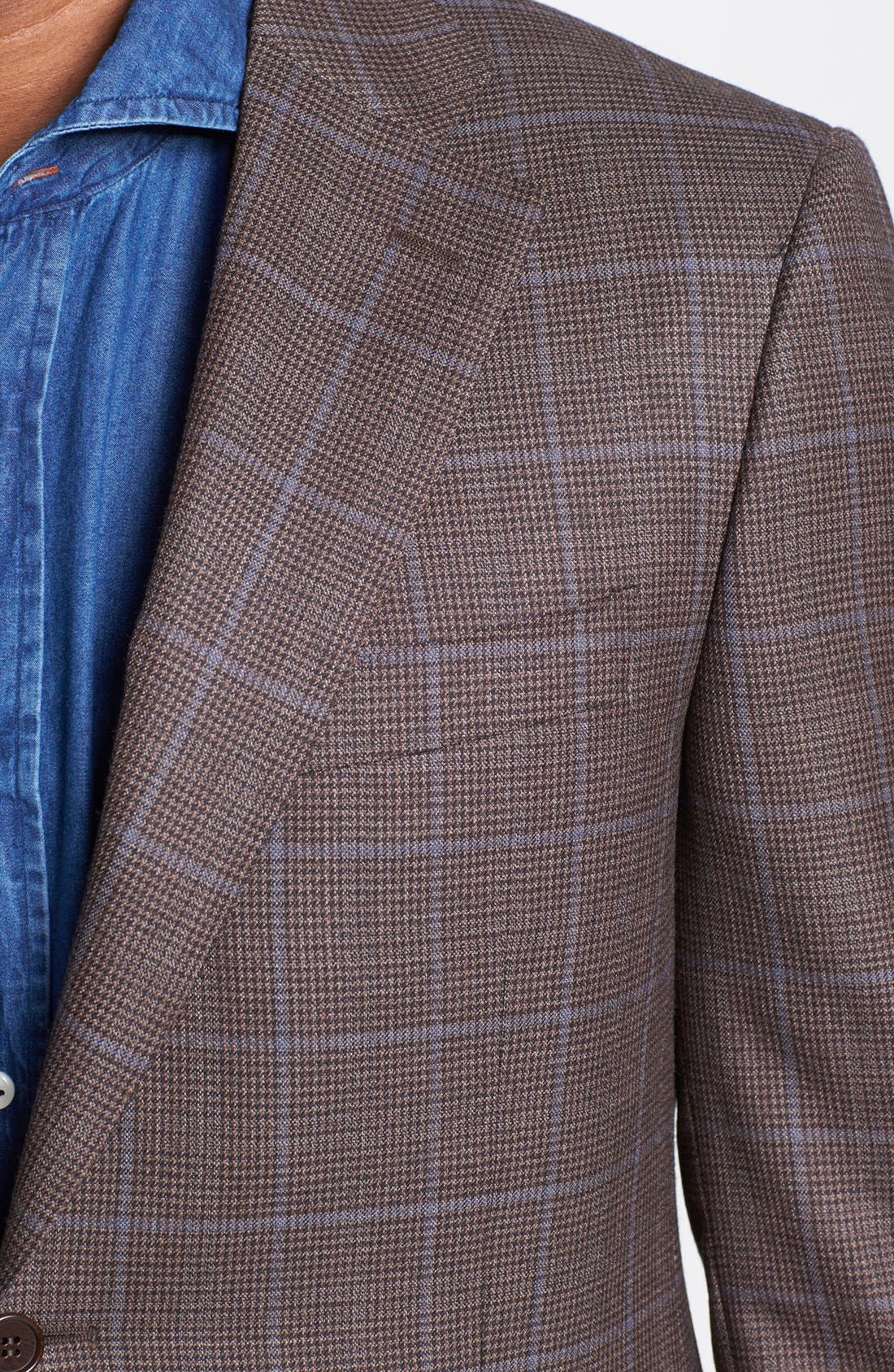 Alternate Image 2  - Canali Classic Fit Check Sportcoat