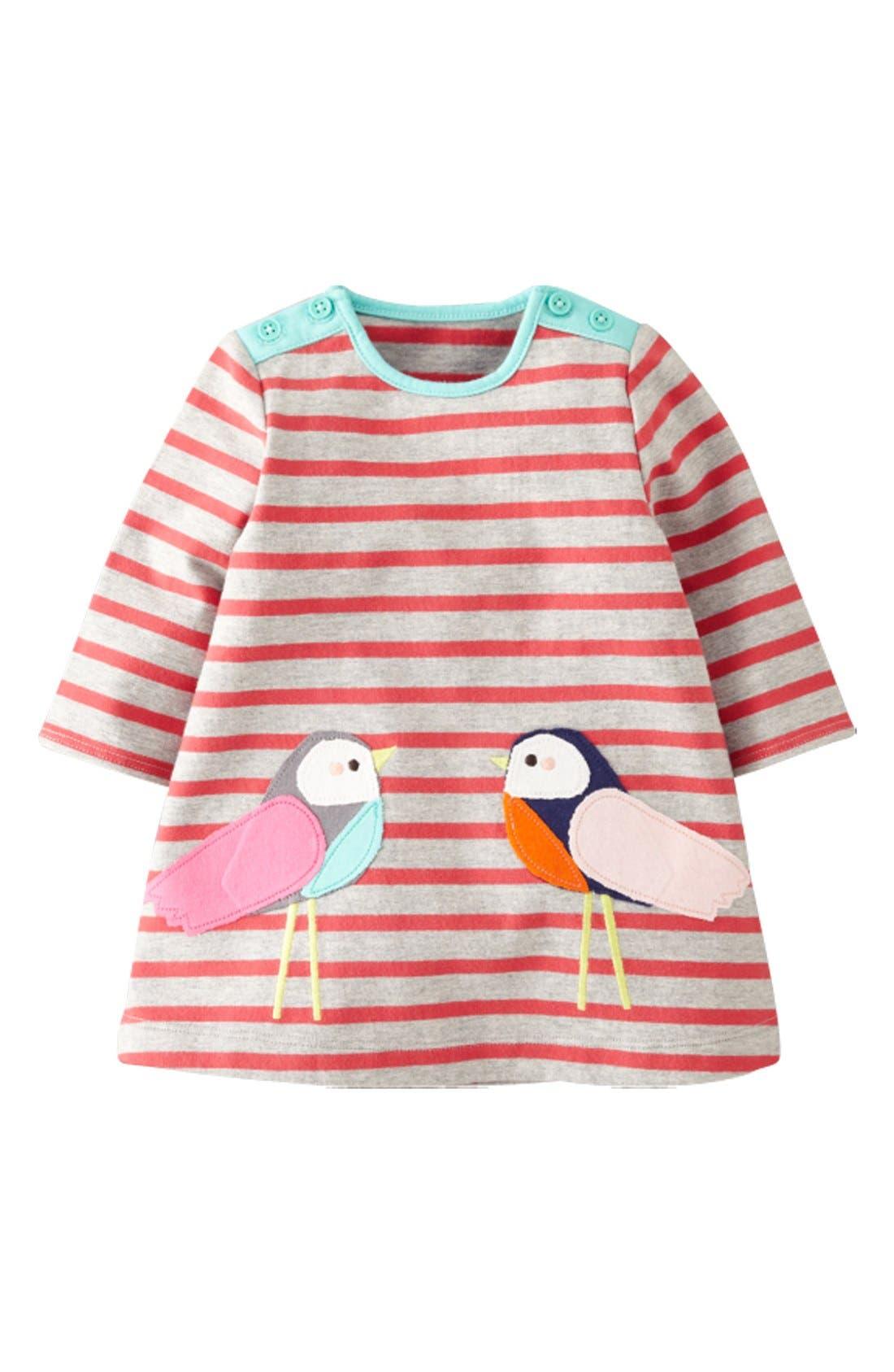 Alternate Image 1 Selected - Mini Boden Stripe Jersey Dress (Baby Girls)