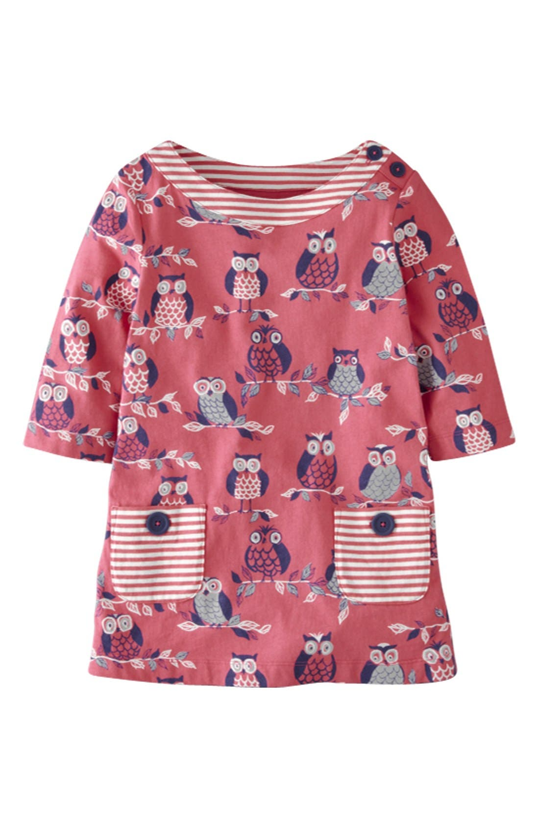Alternate Image 1 Selected - Mini Boden Print Tunic Top (Toddler Girls)