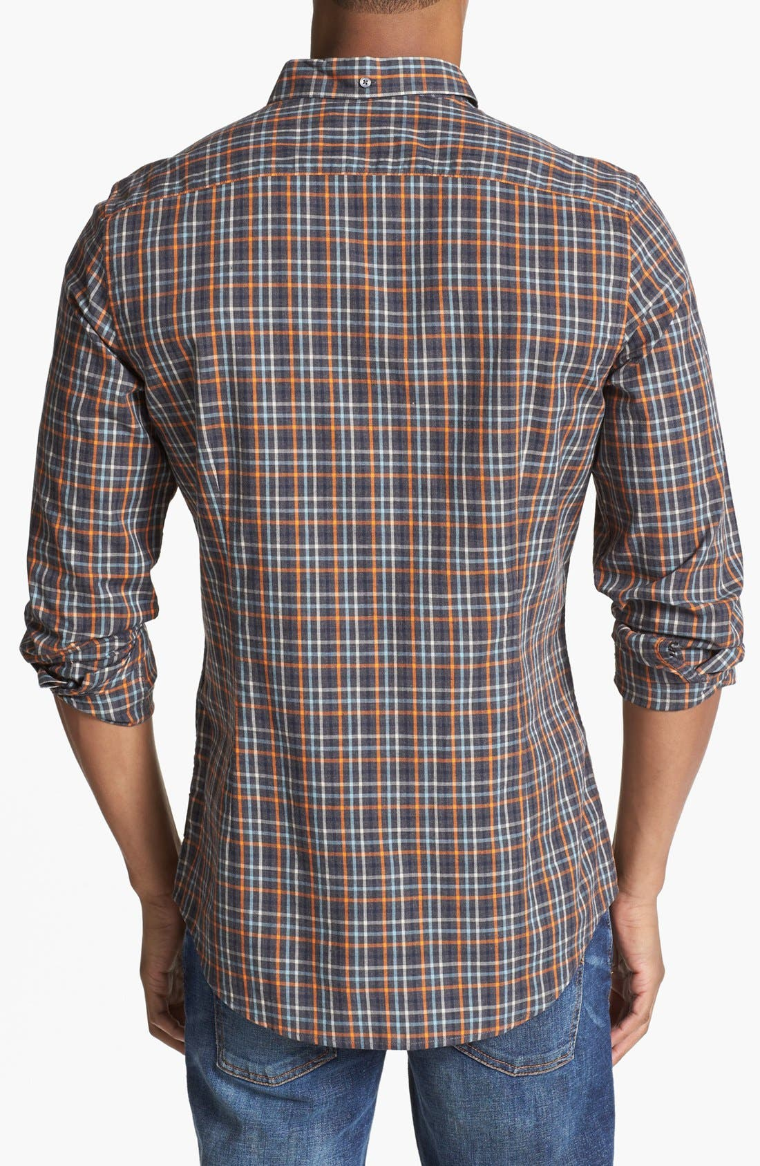Alternate Image 3  - Ben Sherman Slim Fit Plaid Shirt
