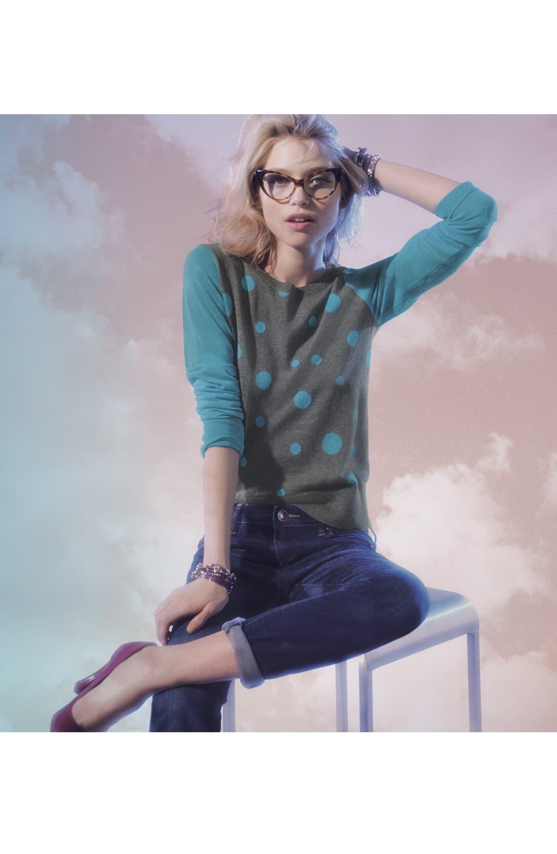 Main Image - Halogen® Sweater & KUT from the Kloth Boyfriend Jeans