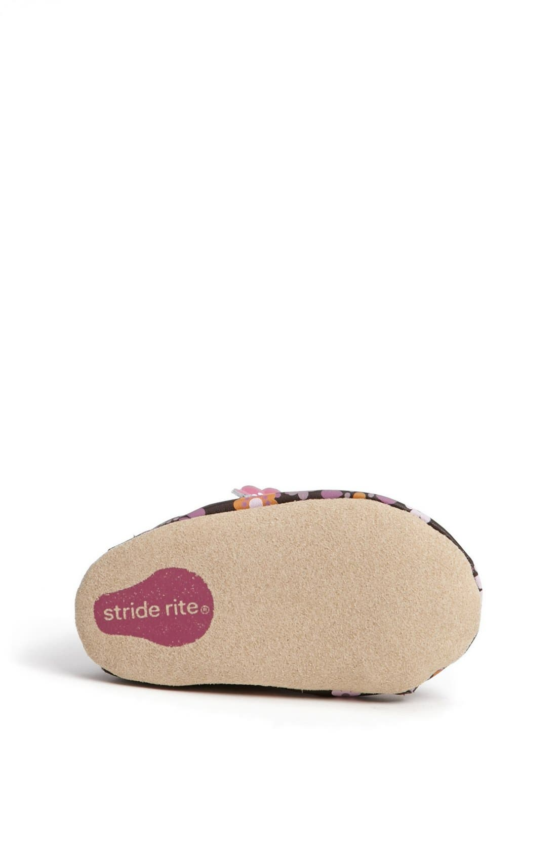 Alternate Image 4  - Stride Rite 'Floral Fun' Crib Shoe (Baby Girls)