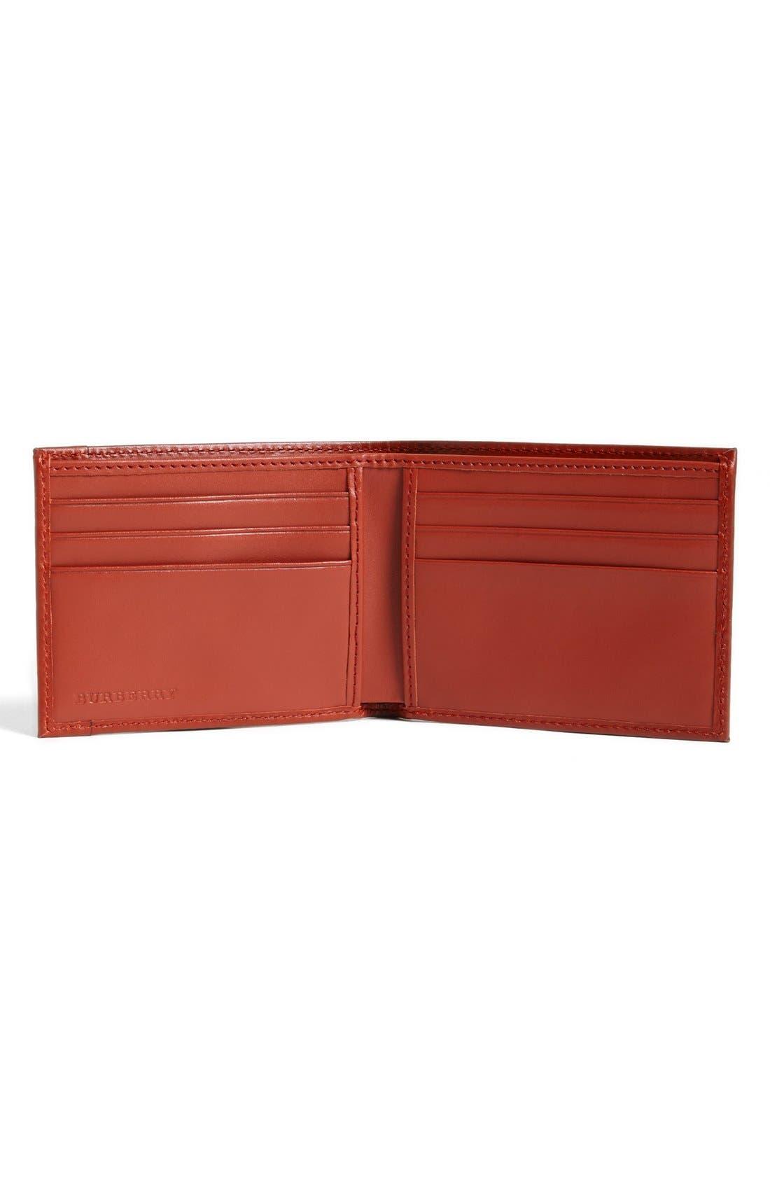 Alternate Image 2  - Burberry Check Print Bifold Wallet