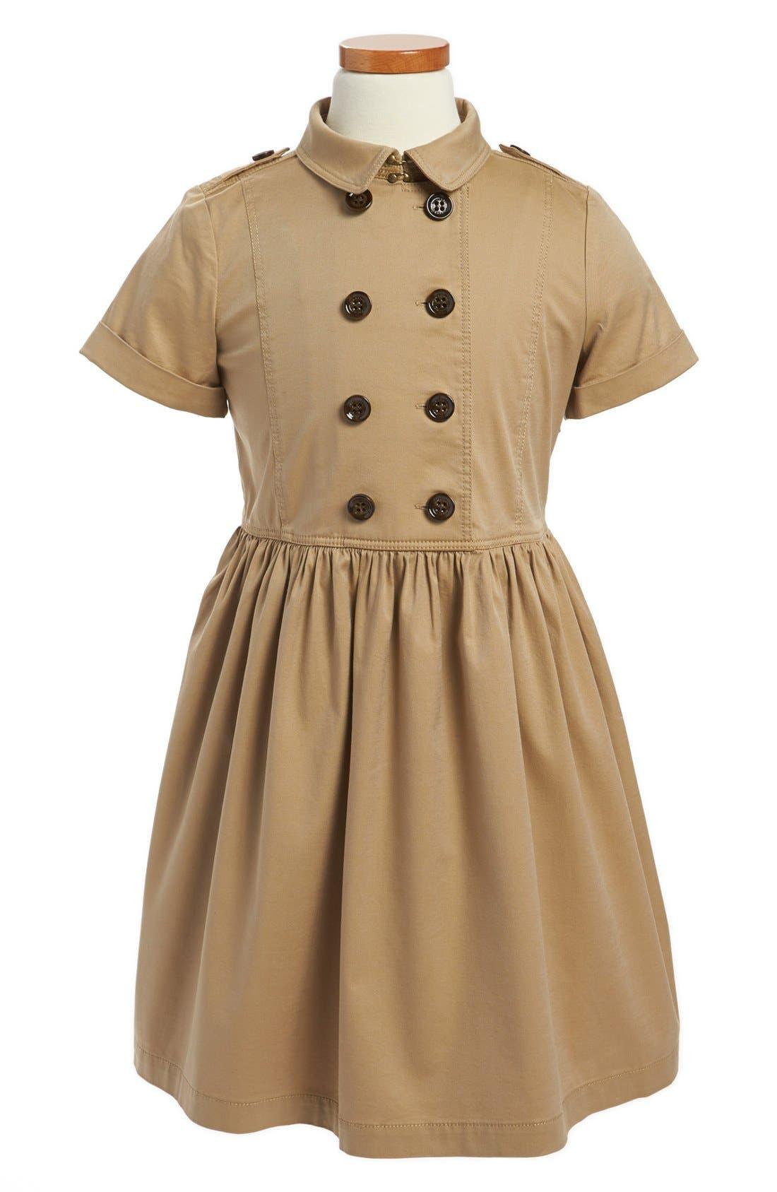 Alternate Image 1 Selected - Burberry 'Elive' Trench Dress (Little Girls & Big Girls)