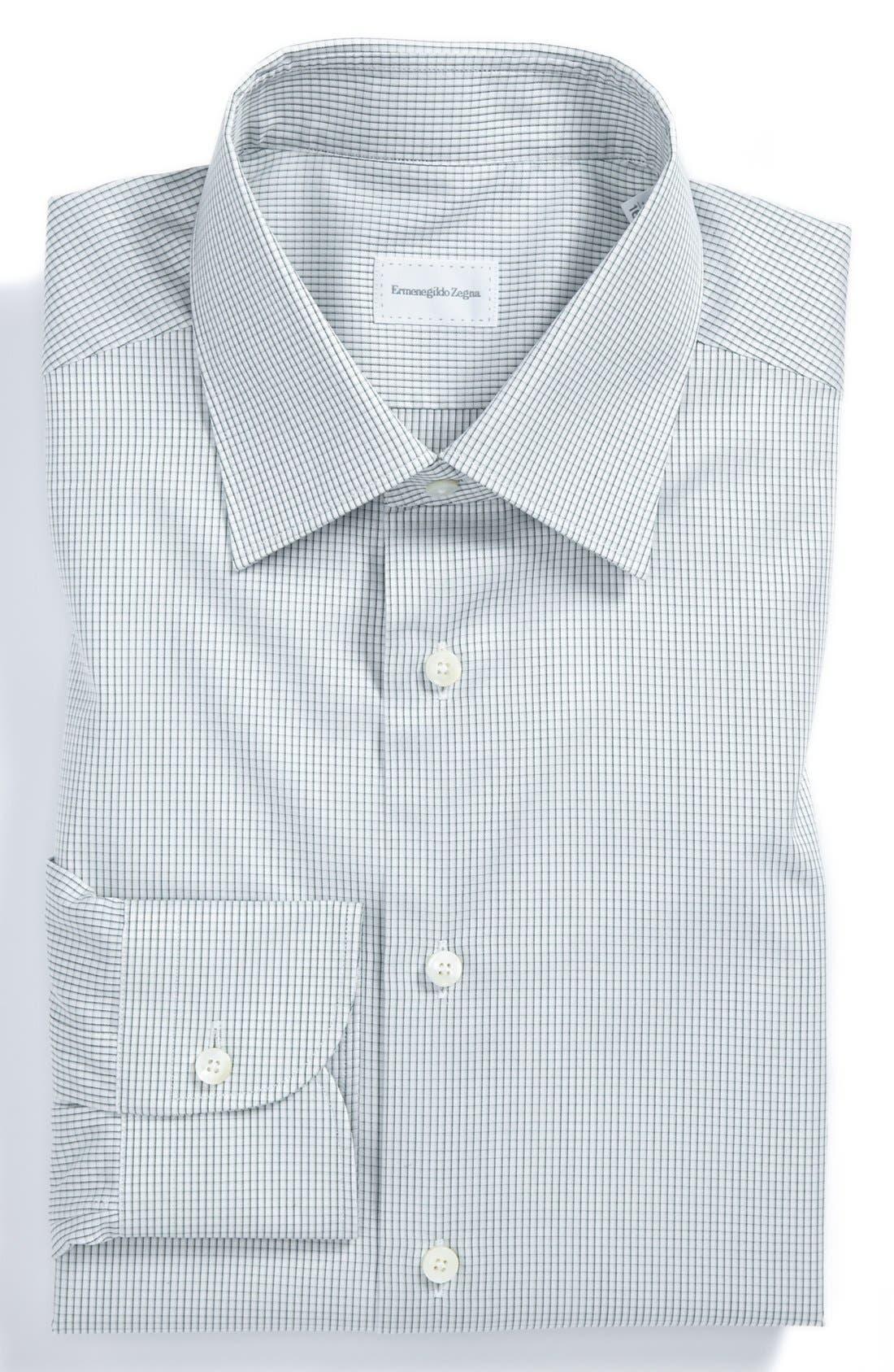 Regular Fit Dress Shirt,                             Main thumbnail 1, color,                             Green