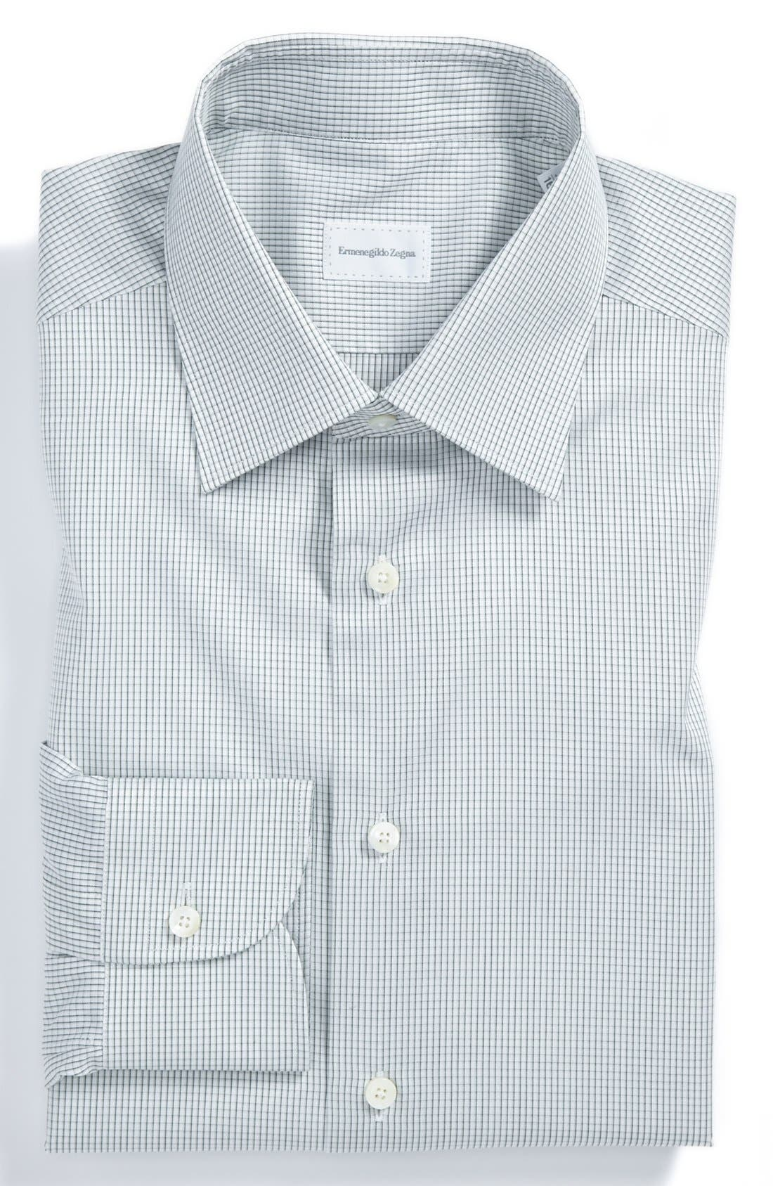 Regular Fit Dress Shirt,                         Main,                         color, Green