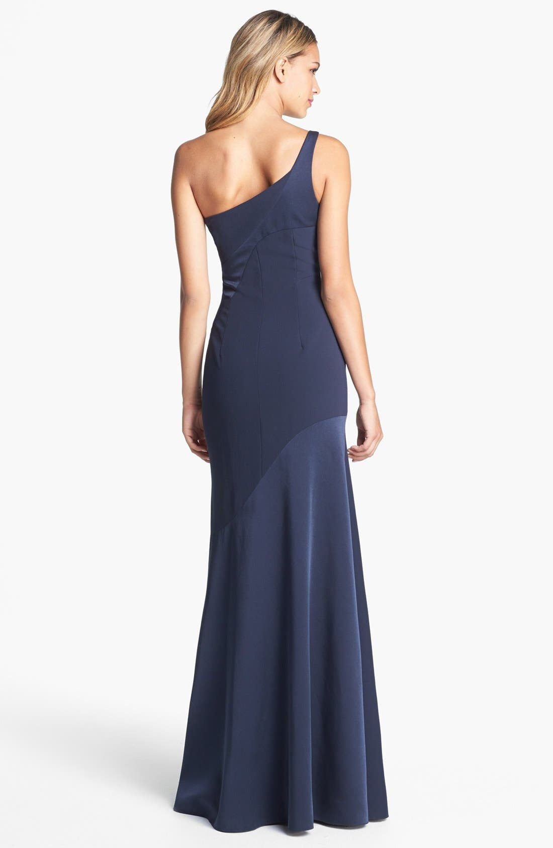 Alternate Image 2  - David Meister One Shoulder Gown