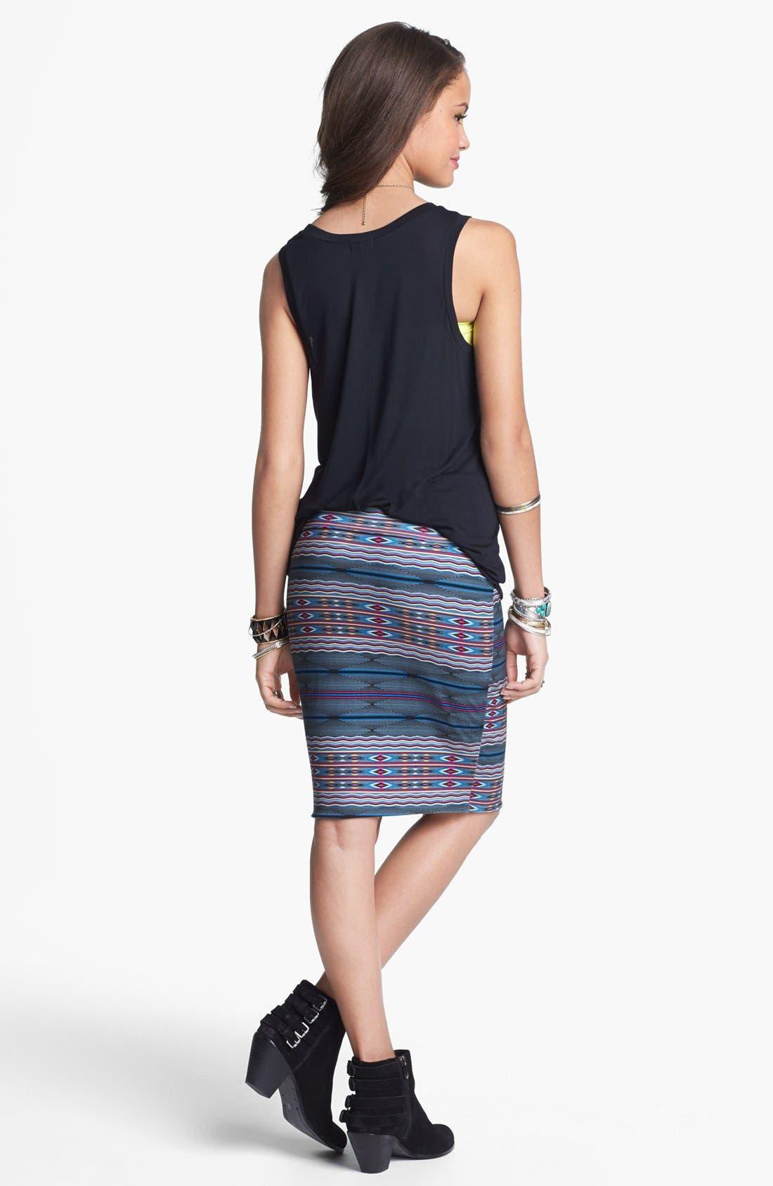 Alternate Image 2  - Lily White Mid-Length Pencil Skirt (Juniors)