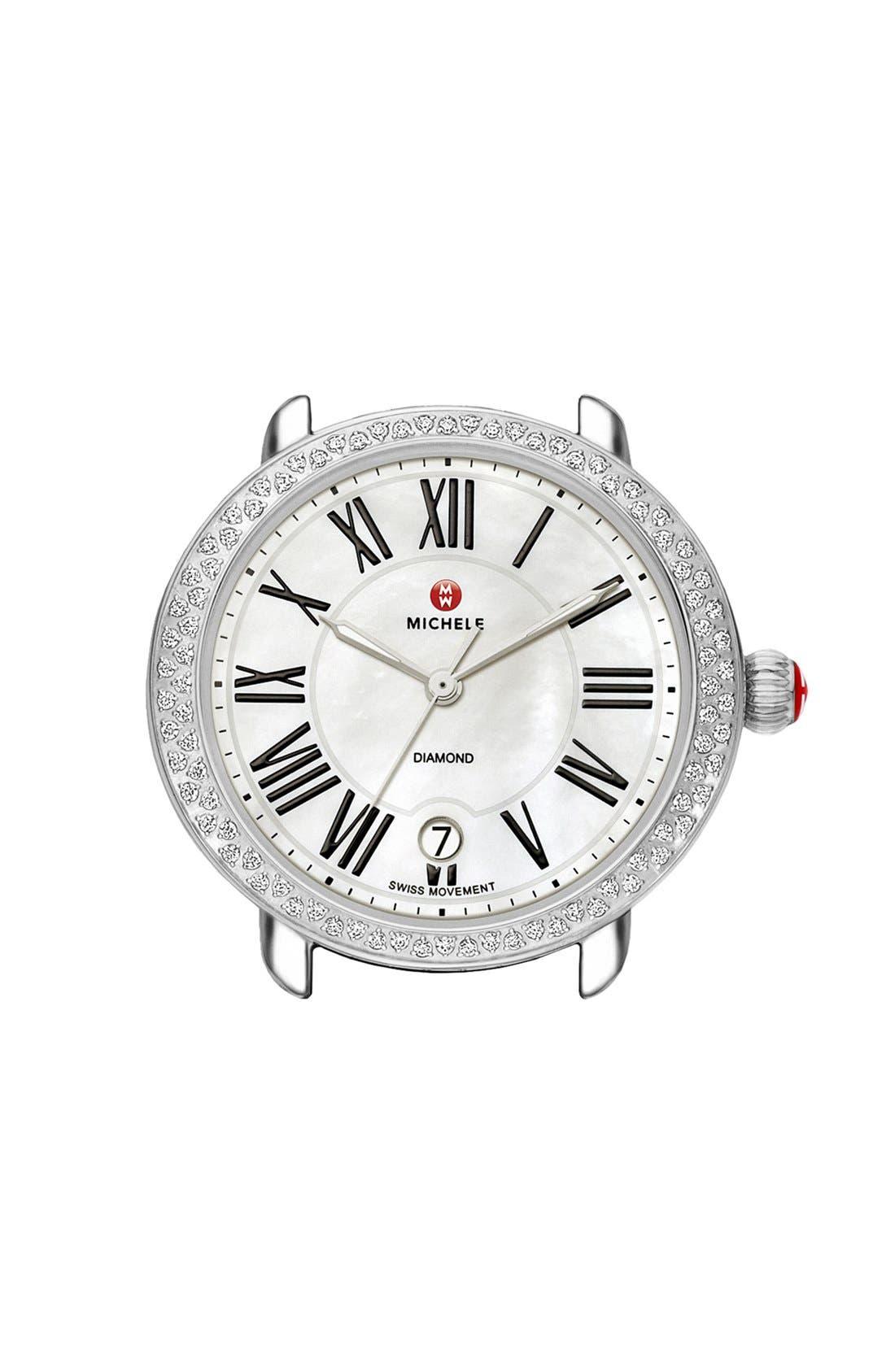 Main Image - MICHELE Serein 16 Diamond Gold Plated Watch Case, 34mm x 36mm