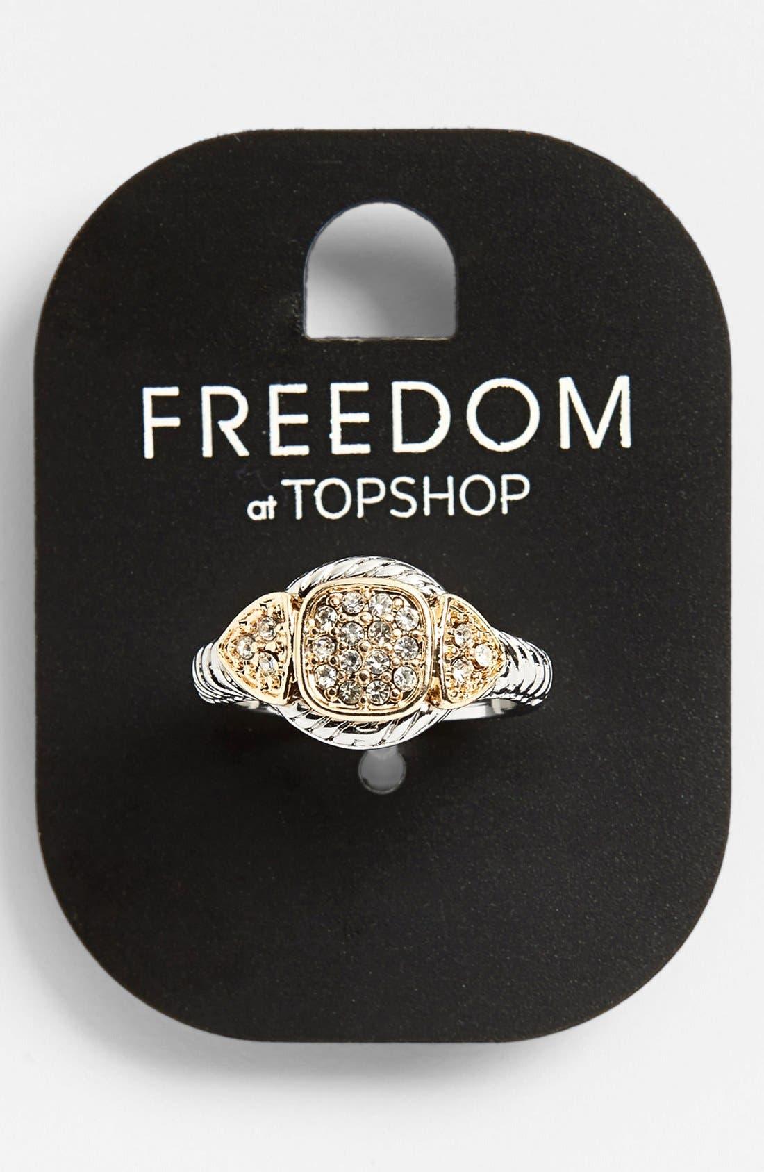 Alternate Image 1 Selected - Topshop Rhinestone Ring