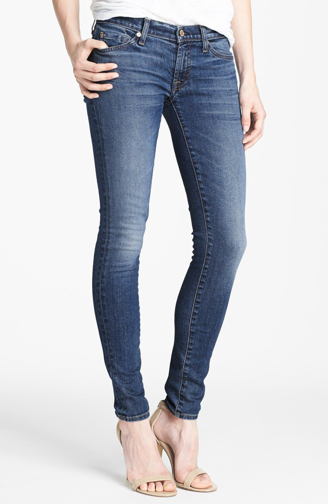 Main Image - 7 For All Mankind® 'The Skinny with Squiggle' Skinny Jeans