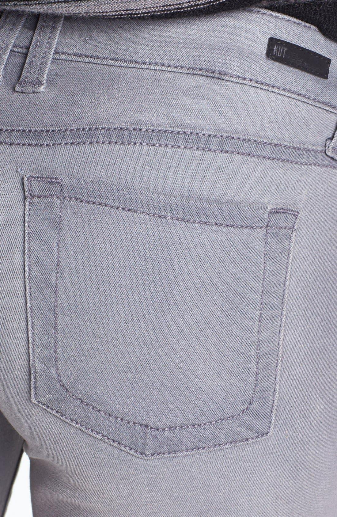 Alternate Image 3  - KUT from the Kloth 'Mia' Skinny Jeans (Grey)