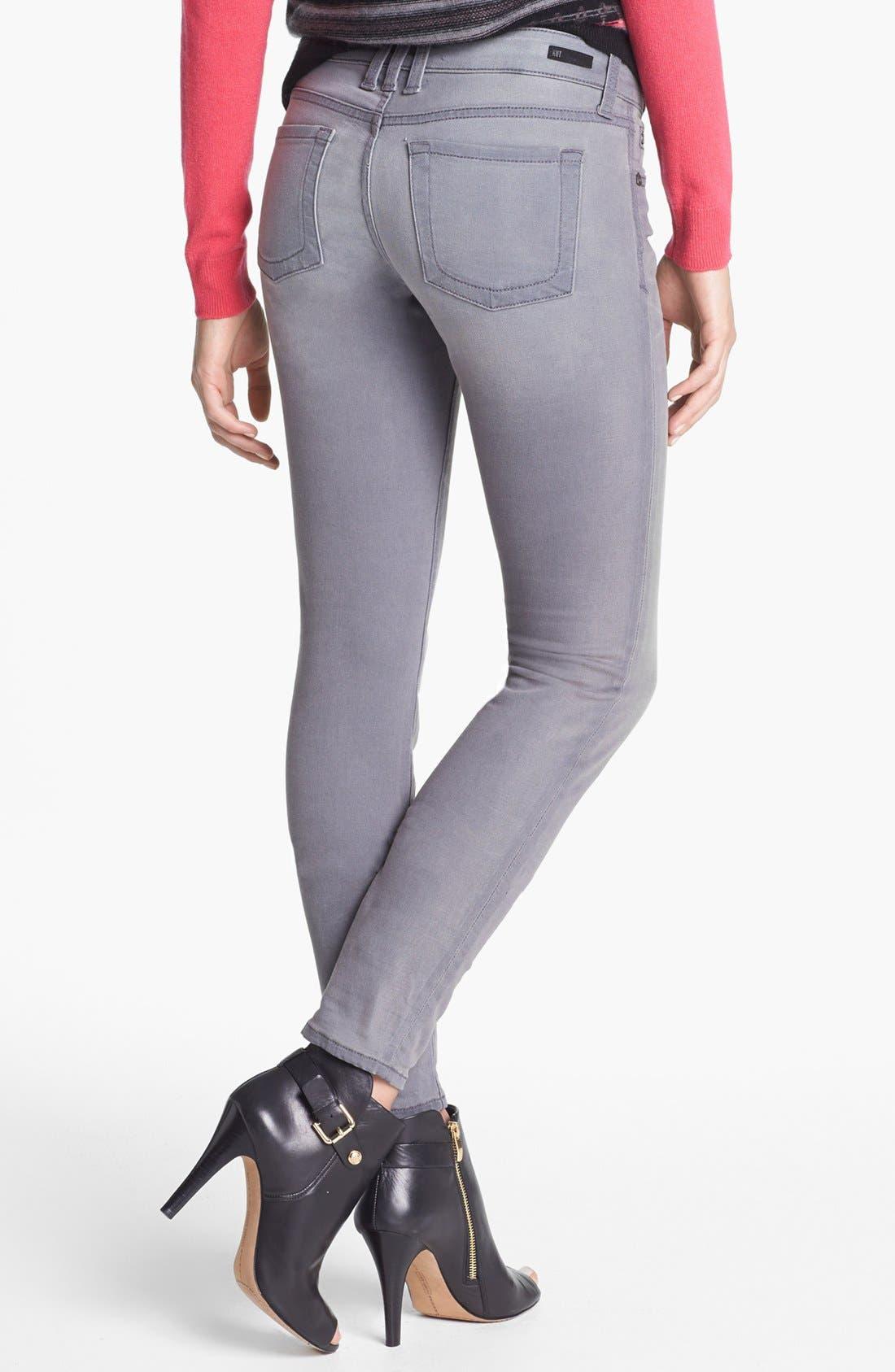 Alternate Image 2  - KUT from the Kloth 'Mia' Skinny Jeans (Grey)