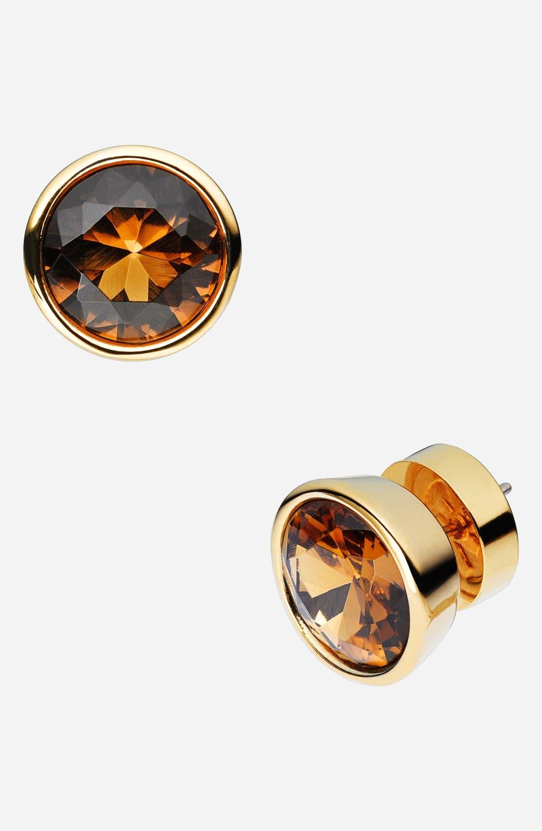 Alternate Image 1 Selected - Michael Kors 'Glam Classics' Cubic Zirconia Stud Earrings