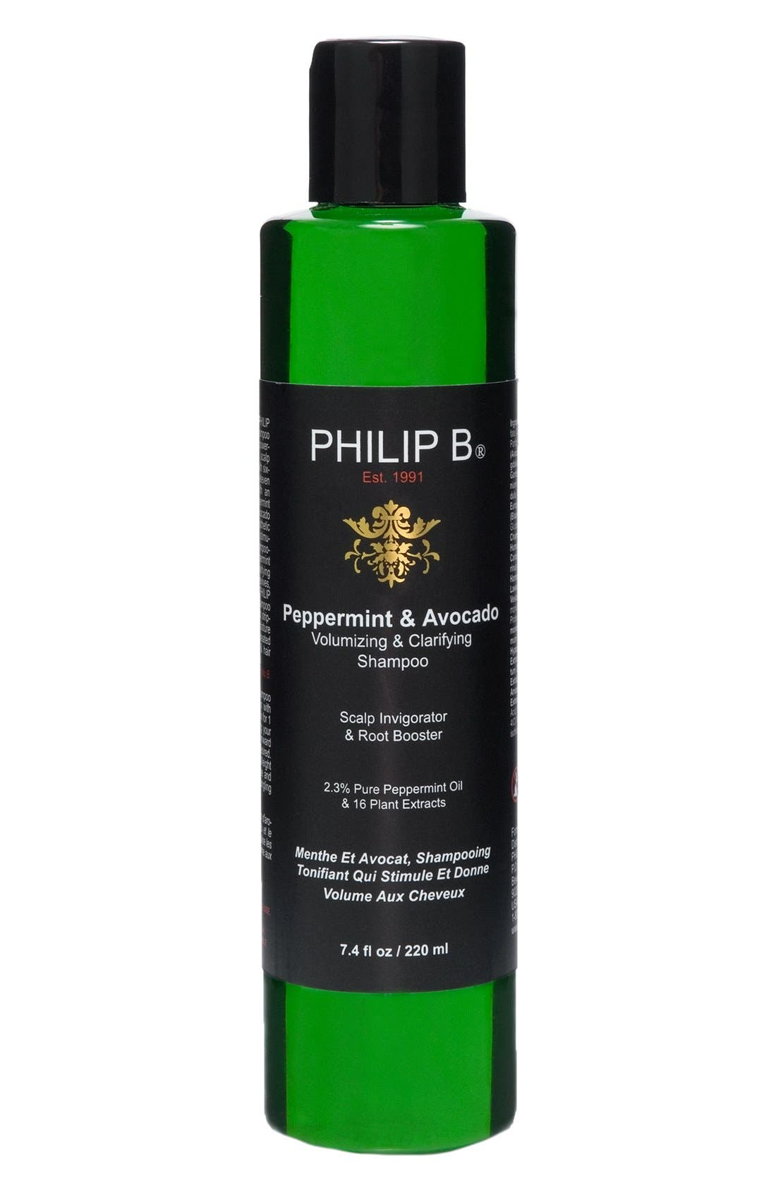 SPACE.NK.apothecary PHILIP B® Peppermint & Avocado Volumizing & Clarifying Shampoo