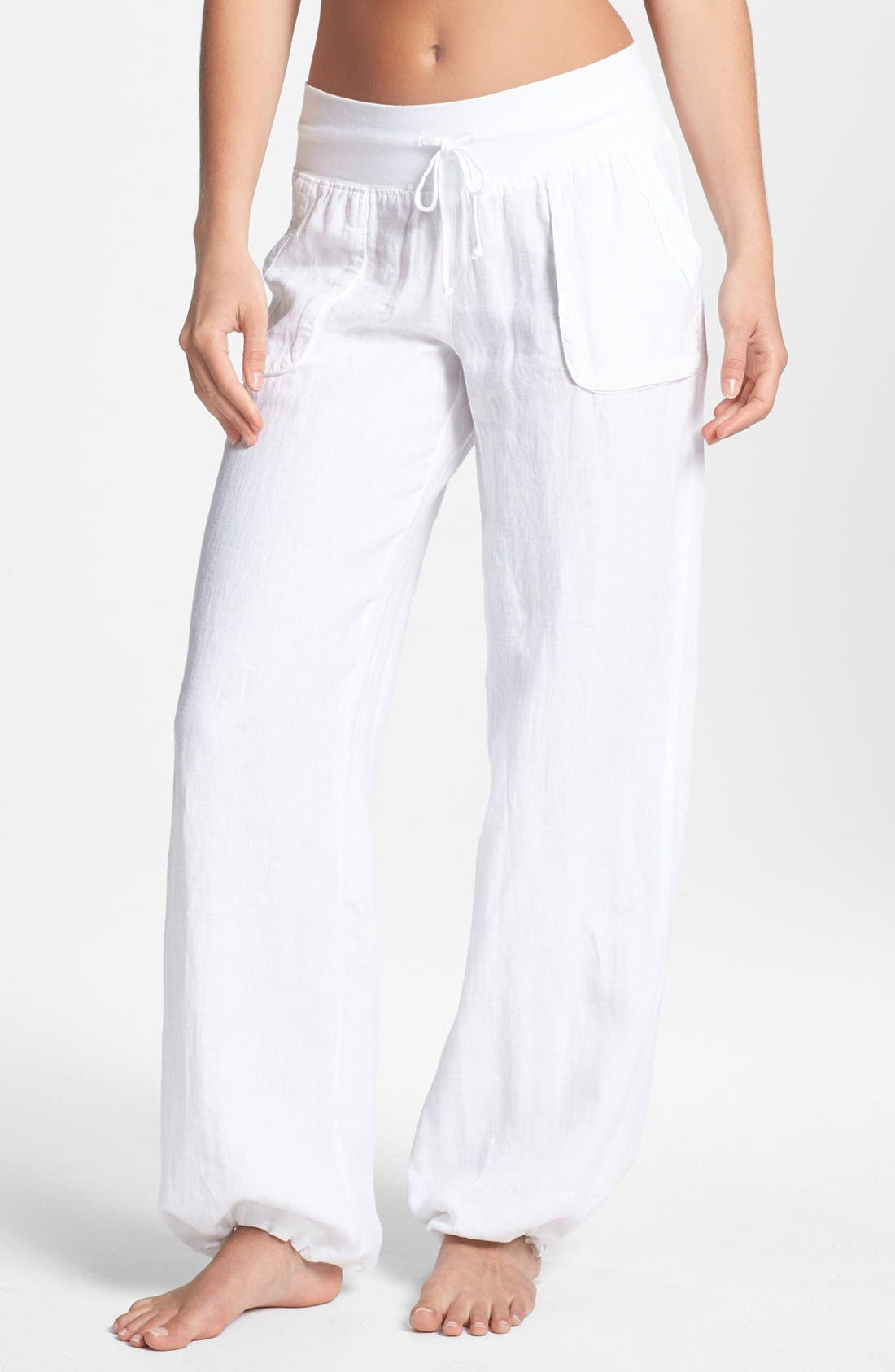 Alternate Image 1 Selected - Hard Tail Relaxed Linen Cargo Pants