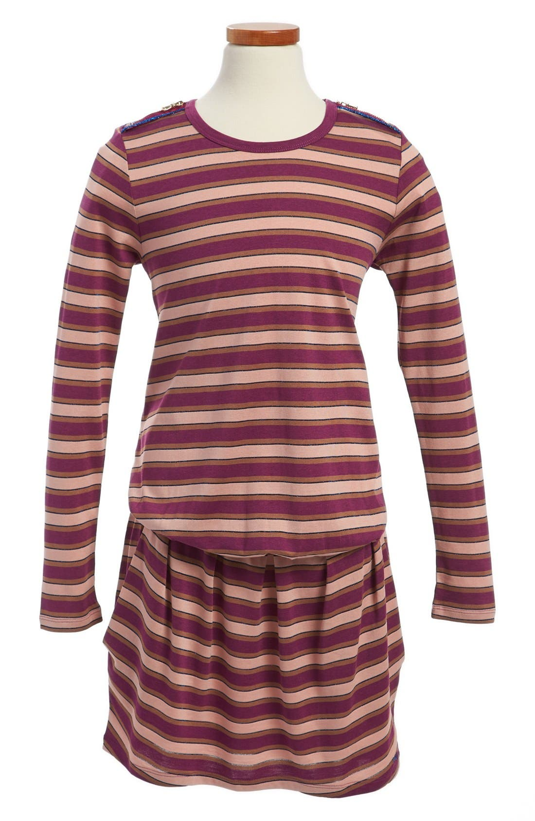 Main Image - LITTLE MARC JACOBS Long Sleeve Jersey Dress (Toddler Girls, Little Girls & Big Girls)