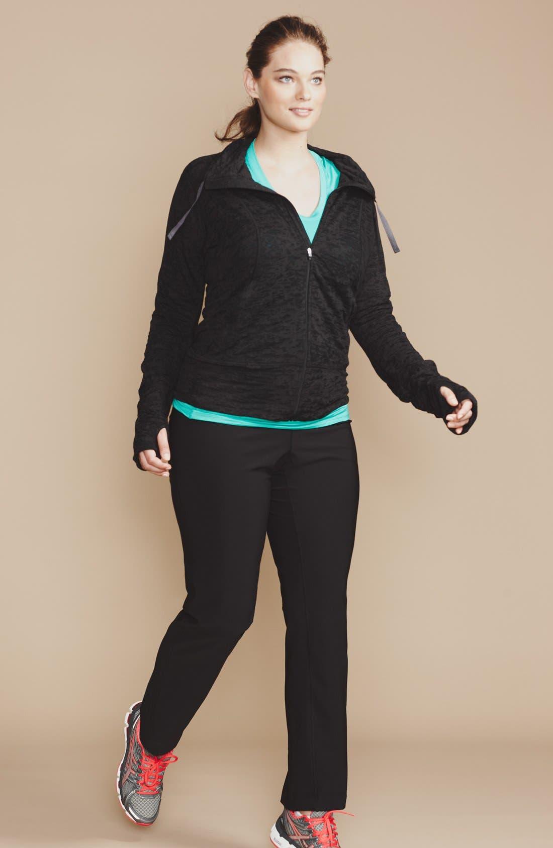Alternate Image 2  - Moving Comfort 'Flow' Lightweight Burnout Jacket (Plus Size)
