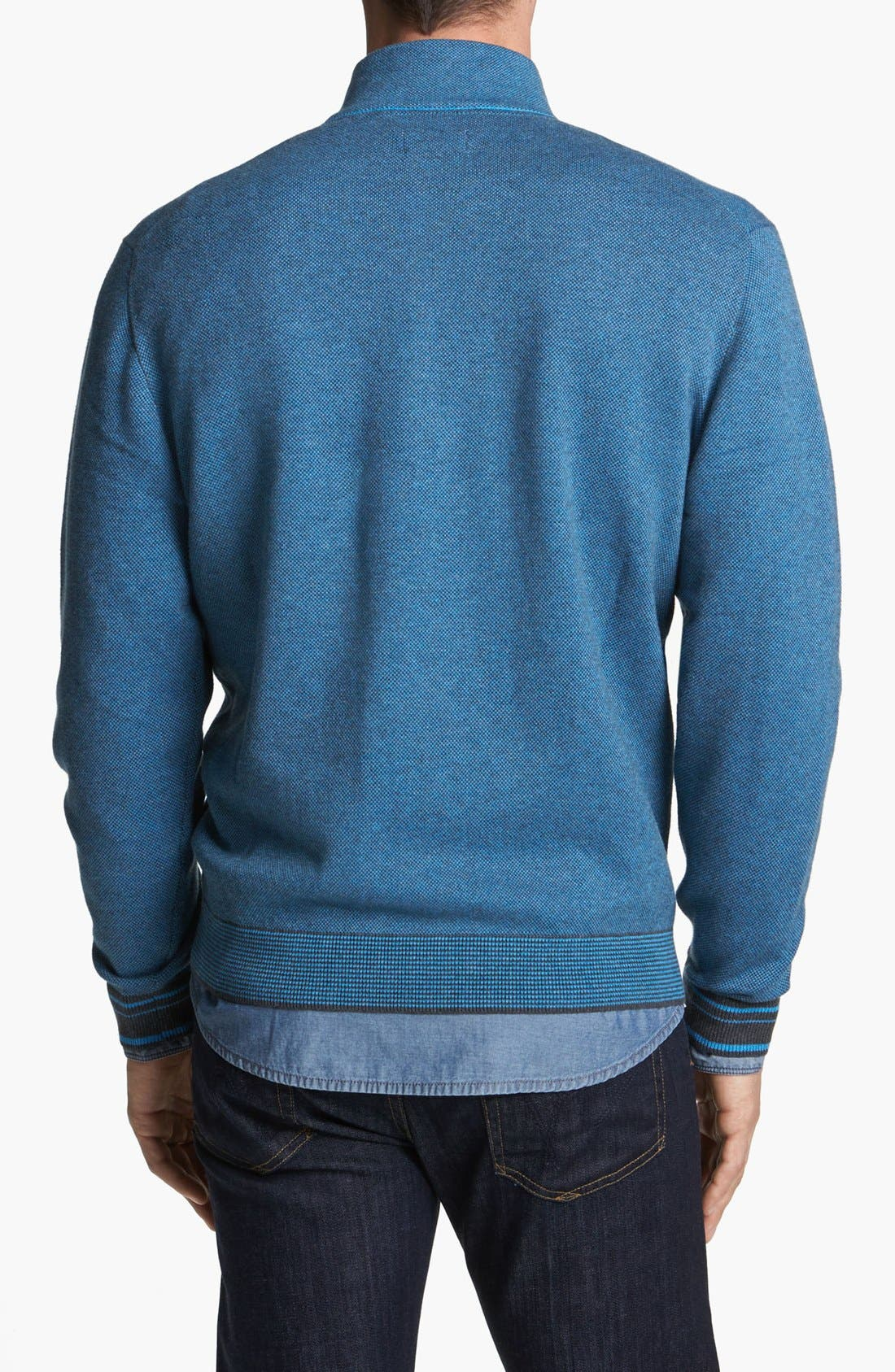 Alternate Image 2  - Cutter & Buck 'Haven' Half Zip Bird's Eye Sweater (Big & Tall)