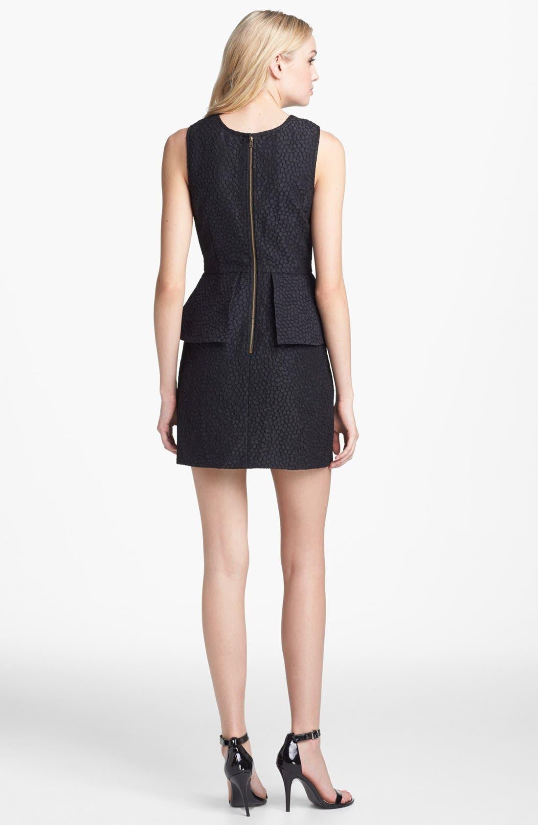 Alternate Image 2  - Keepsake the Label 'In Your Light' Jacquard Peplum Sheath Dress