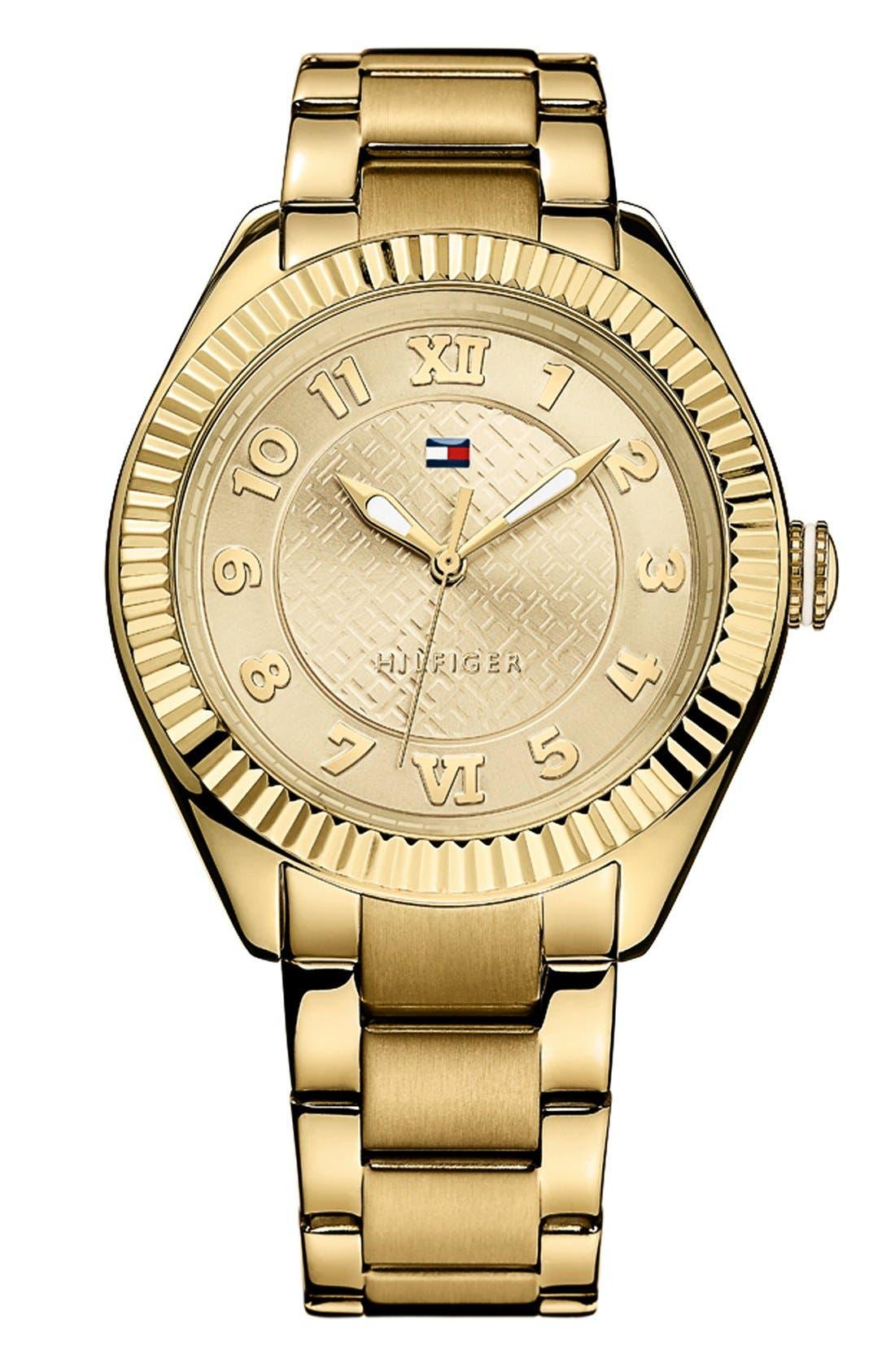 Alternate Image 1 Selected - Tommy Hilfiger Round Bracelet Watch, 41mm