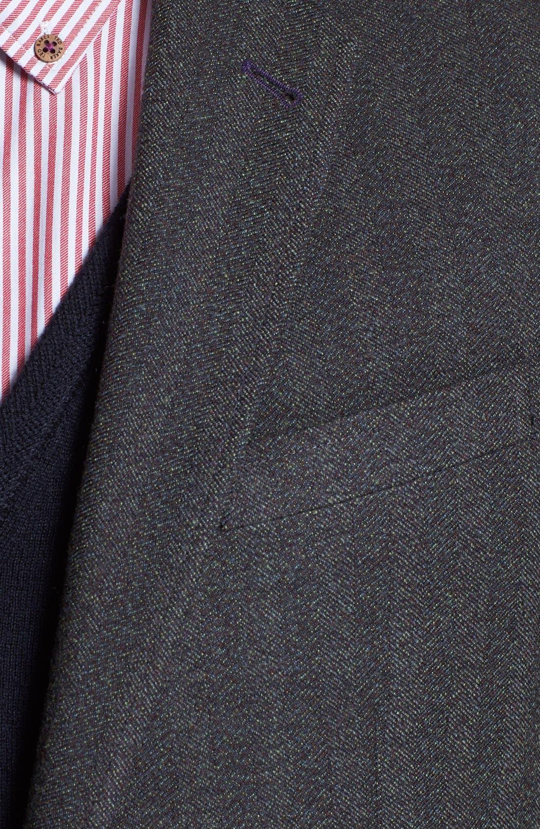 Alternate Image 2  - Ted Baker London 'Jim' Trim Fit Herringbone Sportcoat