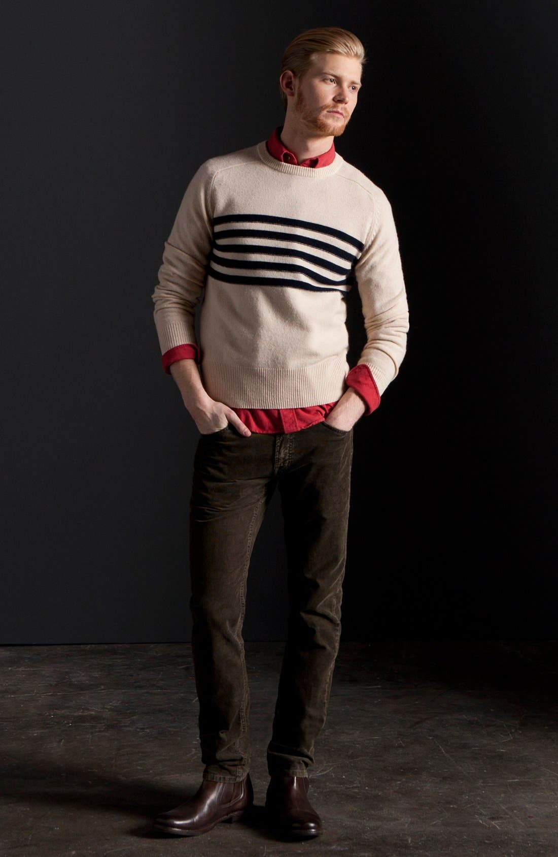 Alternate Image 5  - Gant by Michael Bastian Slim Straight Leg Corduroy Pants