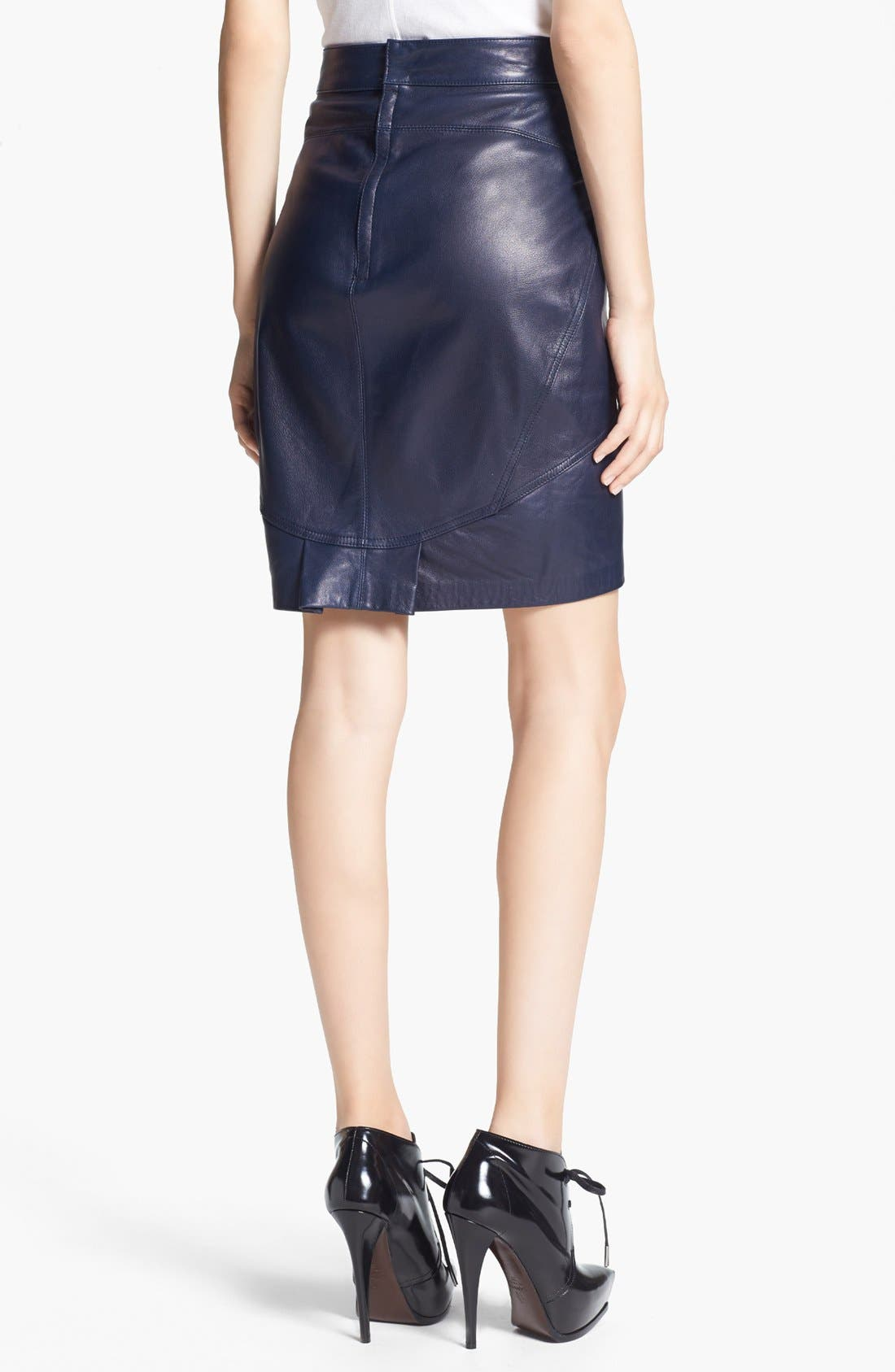 Alternate Image 2  - T by Alexander Wang Lightweight Leather Skirt