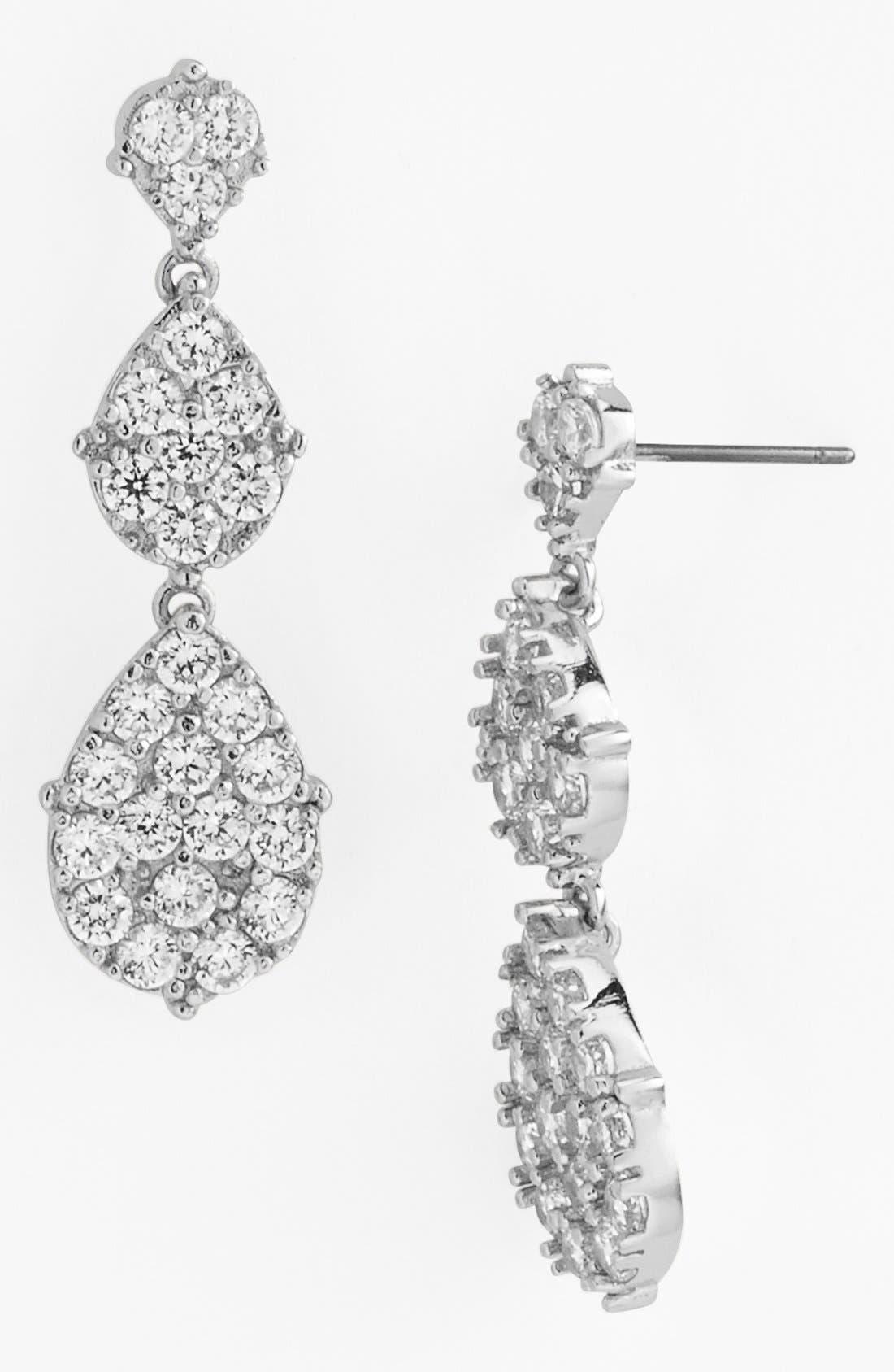 Main Image - Nordstrom Pavé Drop Earrings