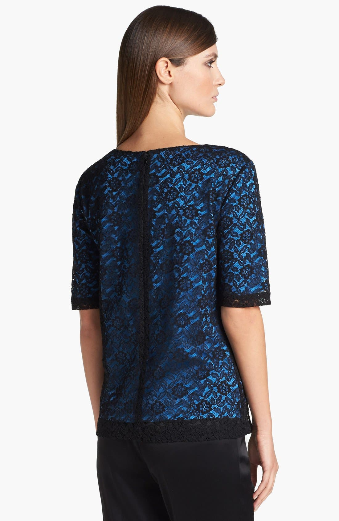 Alternate Image 4  - St. John Collection Floral Lace Top
