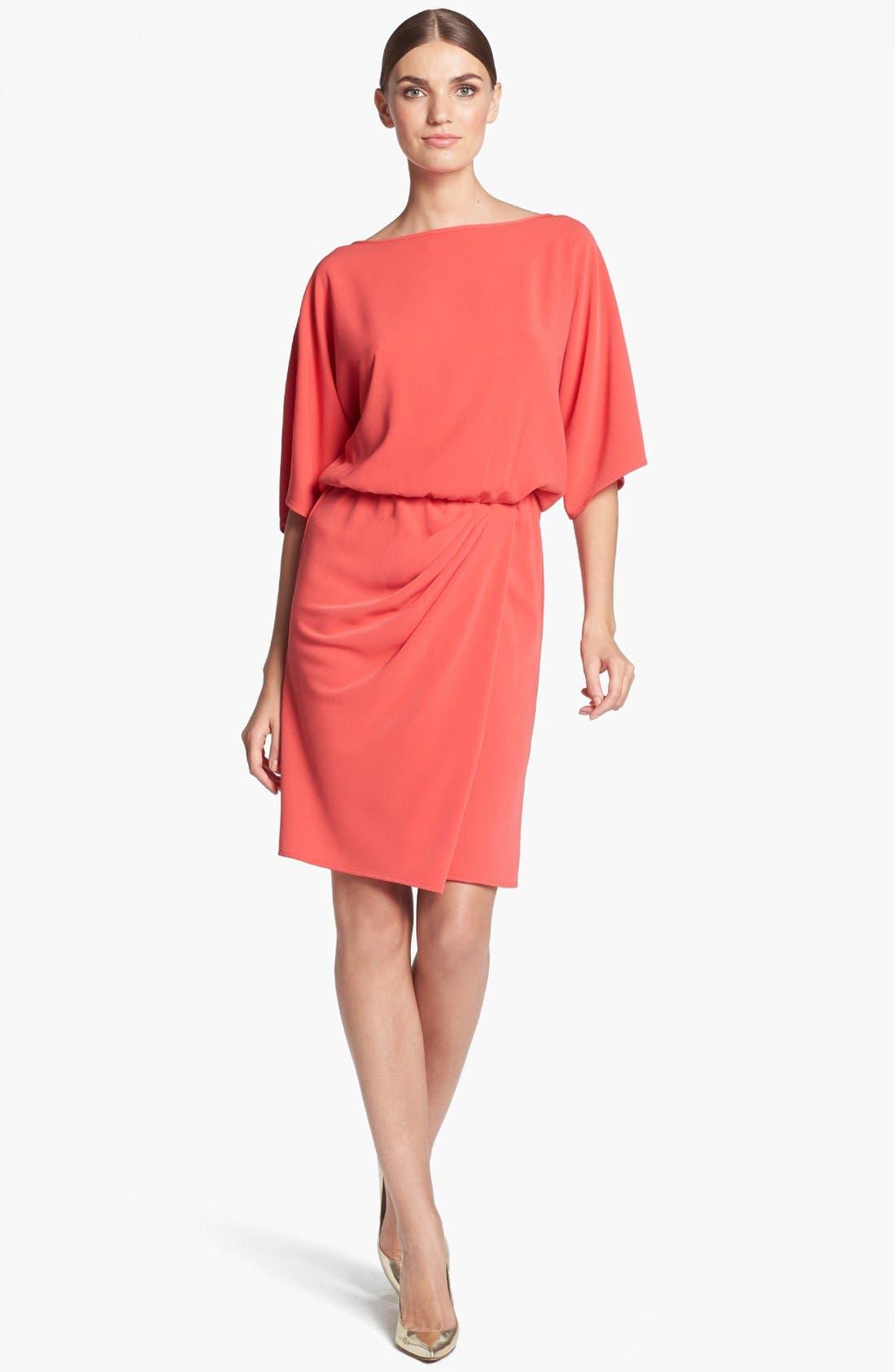 Main Image - St. John Collection Kimono Sleeve Luxe Crepe Dress