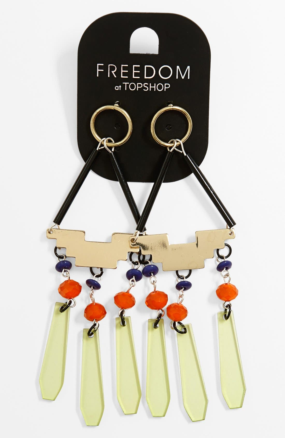 Alternate Image 1 Selected - Topshop 'Urban Shard' Drop Earrings
