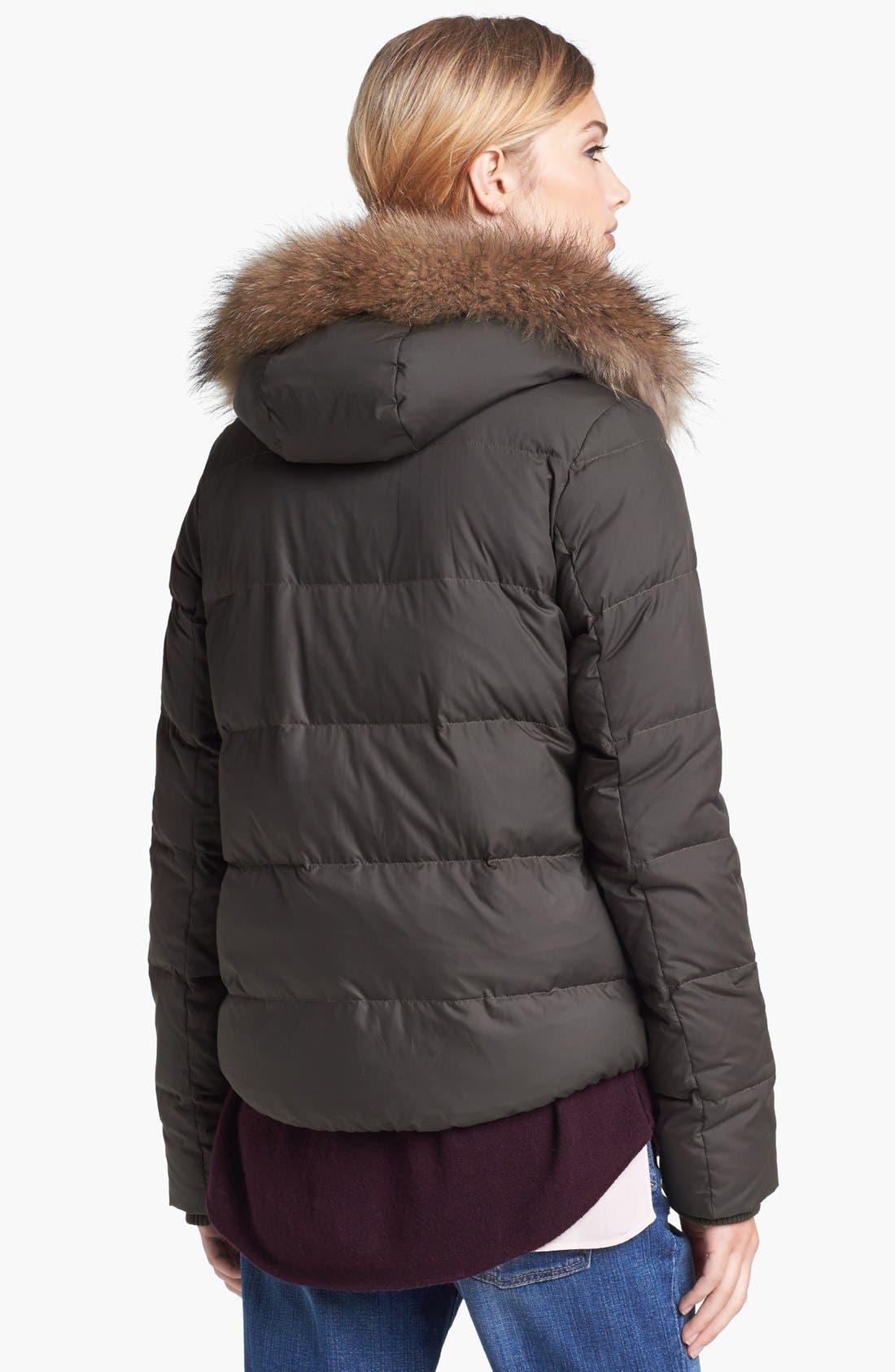 Alternate Image 2  - Vince Genuine Raccoon Fur Trim Puffer Jacket