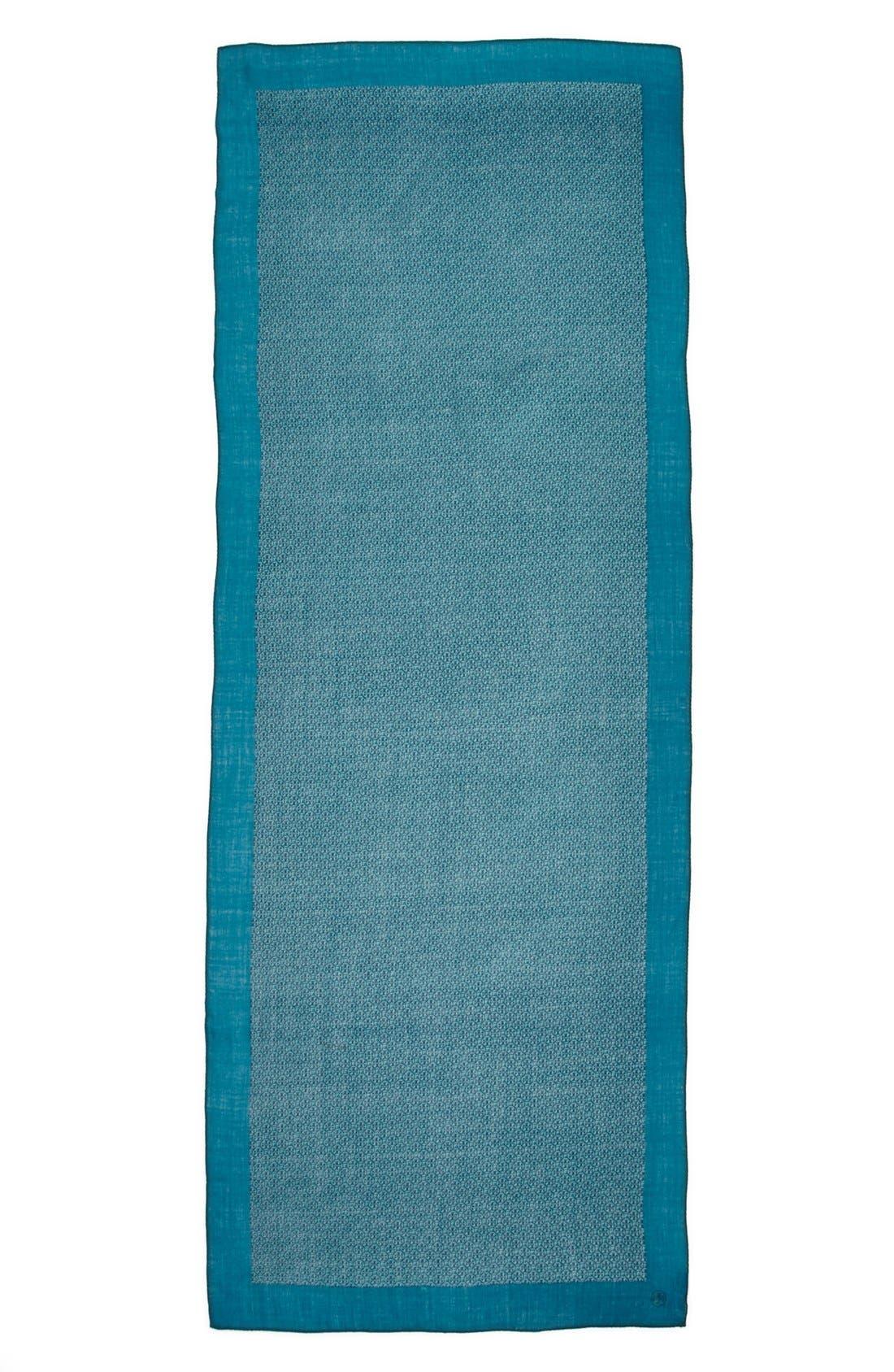 Alternate Image 2  - Tory Burch 'Logo Lattice' Wool Scarf