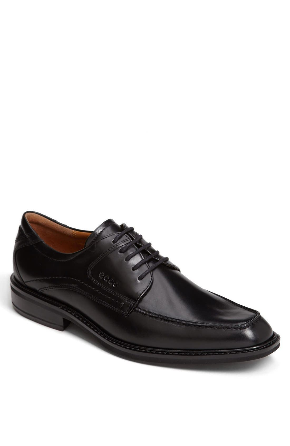 Main Image - ECCO 'Windsor' Apron Toe Derby (Men). Color: Black