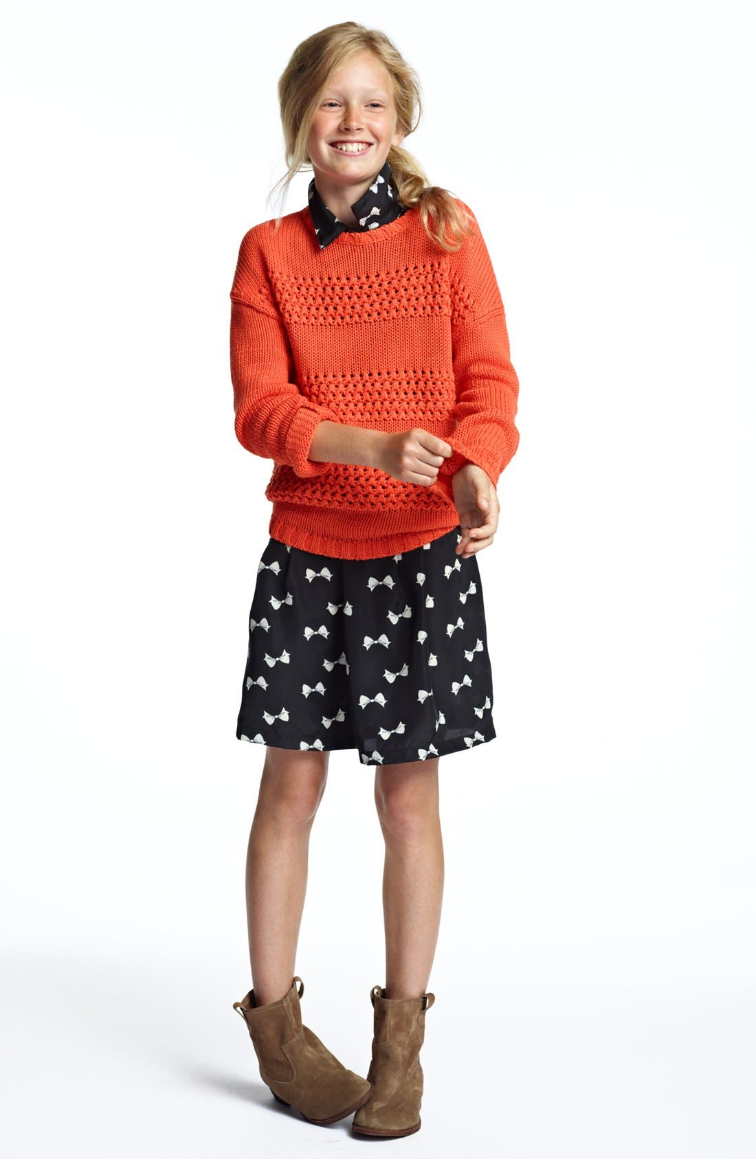 Alternate Image 1 Selected - Tucker + Tate Sweater & Fire Dress (Big Girls)