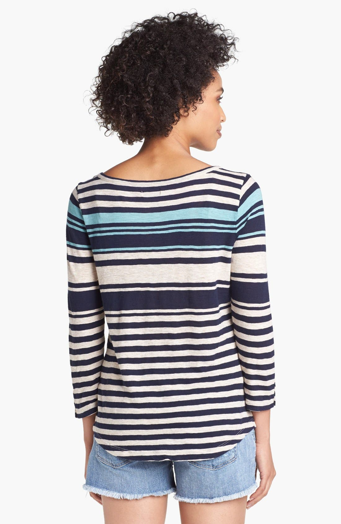 Alternate Image 2  - Lucky Brand 'Anabelle' Variegated Stripe Tee