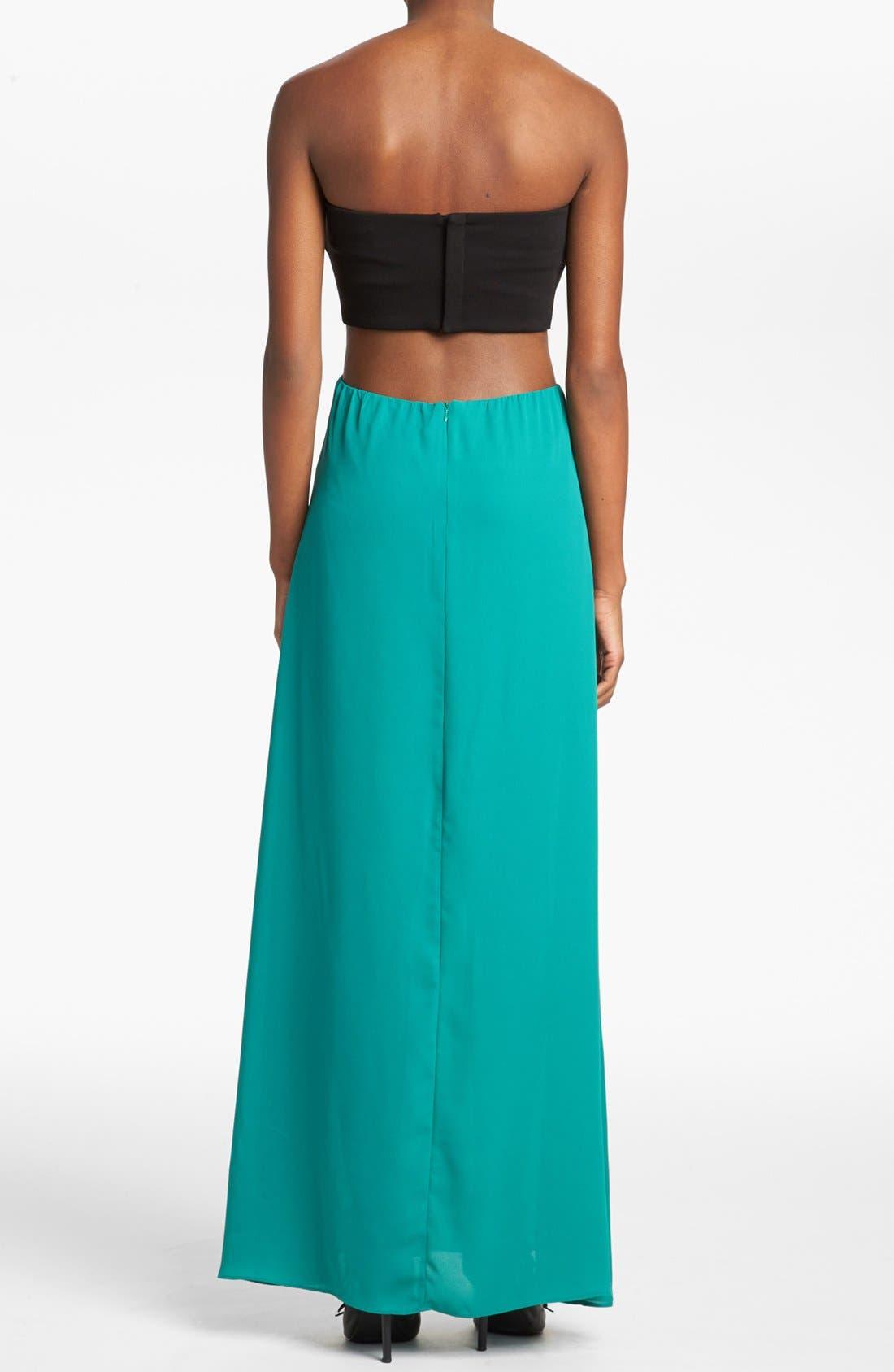 Alternate Image 2  - Like Mynded Strapless Maxi Dress