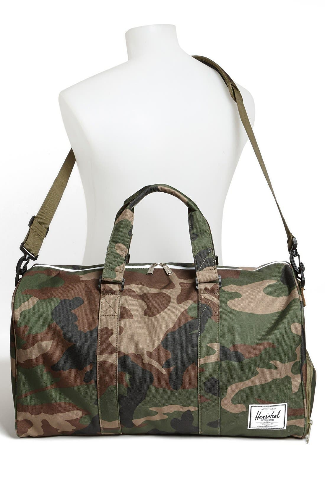 'Novel' Duffel Bag,                             Alternate thumbnail 2, color,                             Woodland Camo