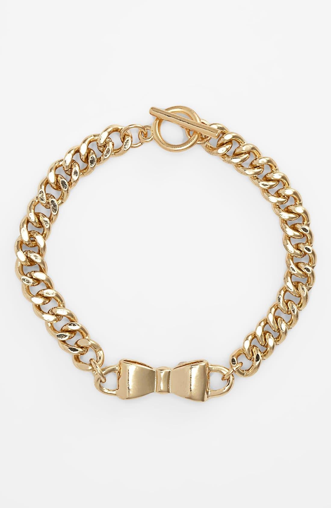 Alternate Image 1 Selected - BP. Bow Chain Bracelet (Juniors)